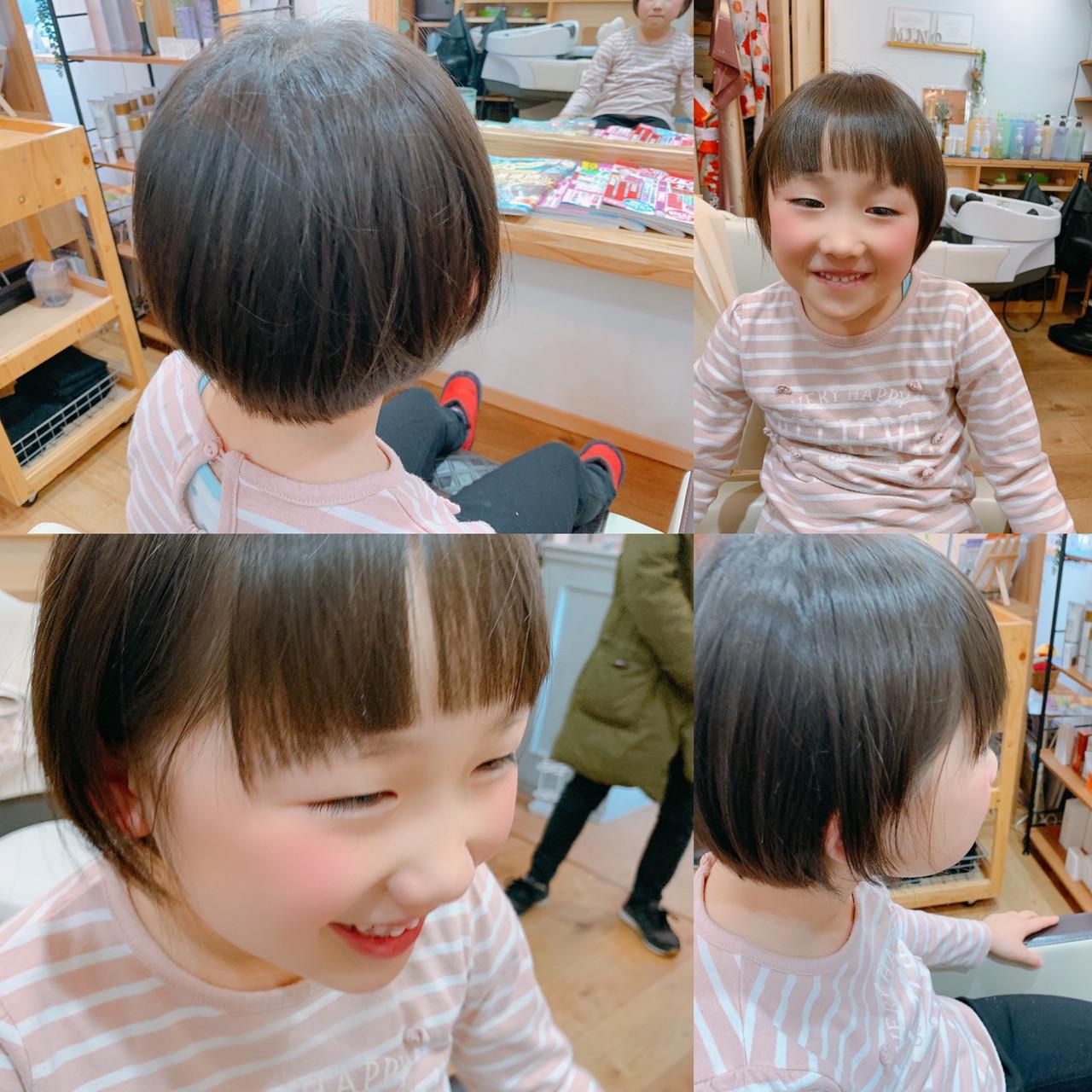 ナチュラル ショート ショートカット キッズカット ヘアスタイルや髪型の写真・画像