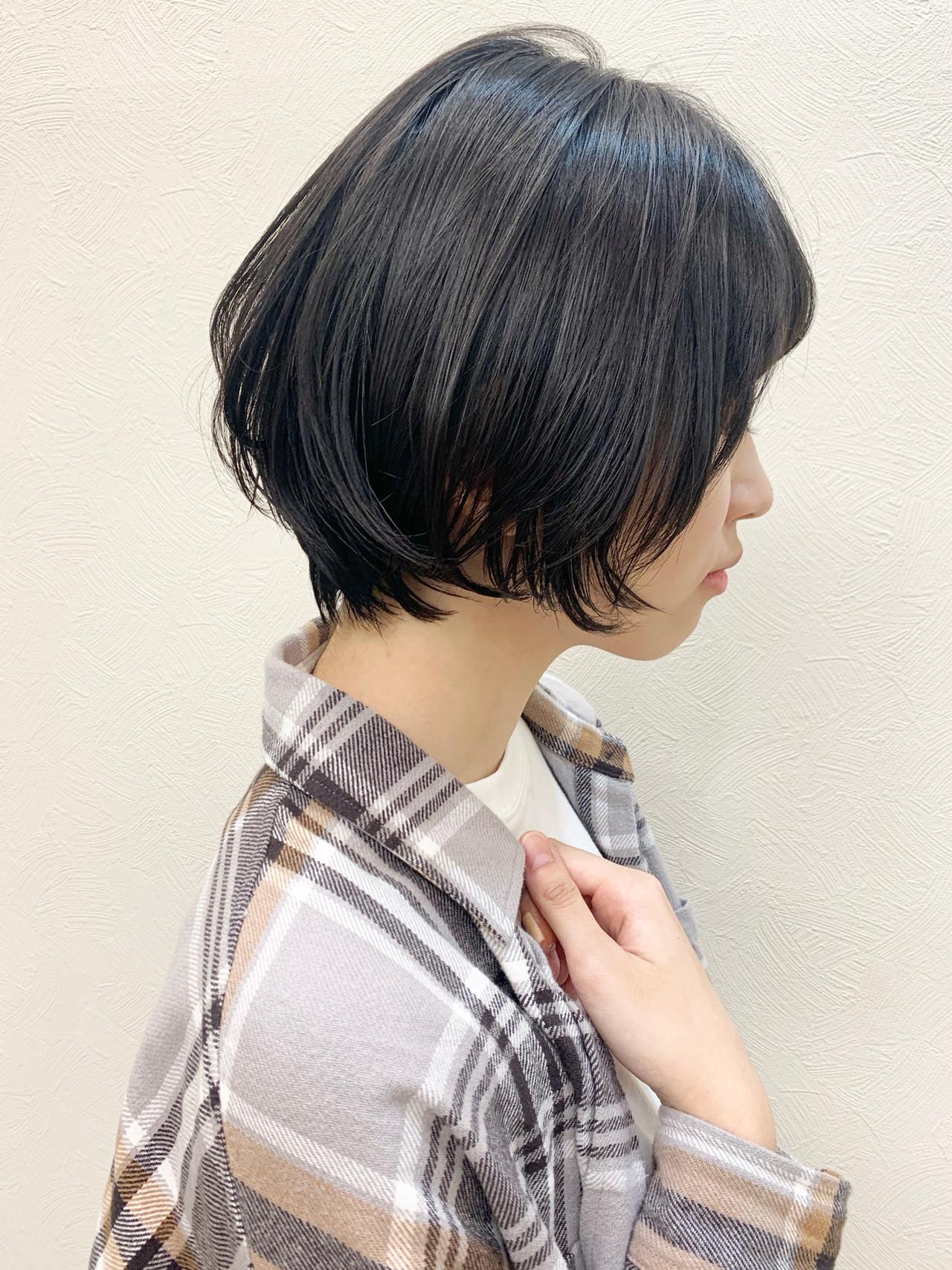ひし形シルエット ナチュラル 大人かわいい ショート ヘアスタイルや髪型の写真・画像