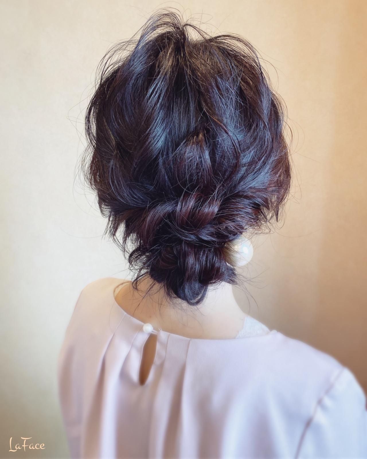結婚式 シニヨン ヘアアレンジ パーティ ヘアスタイルや髪型の写真・画像