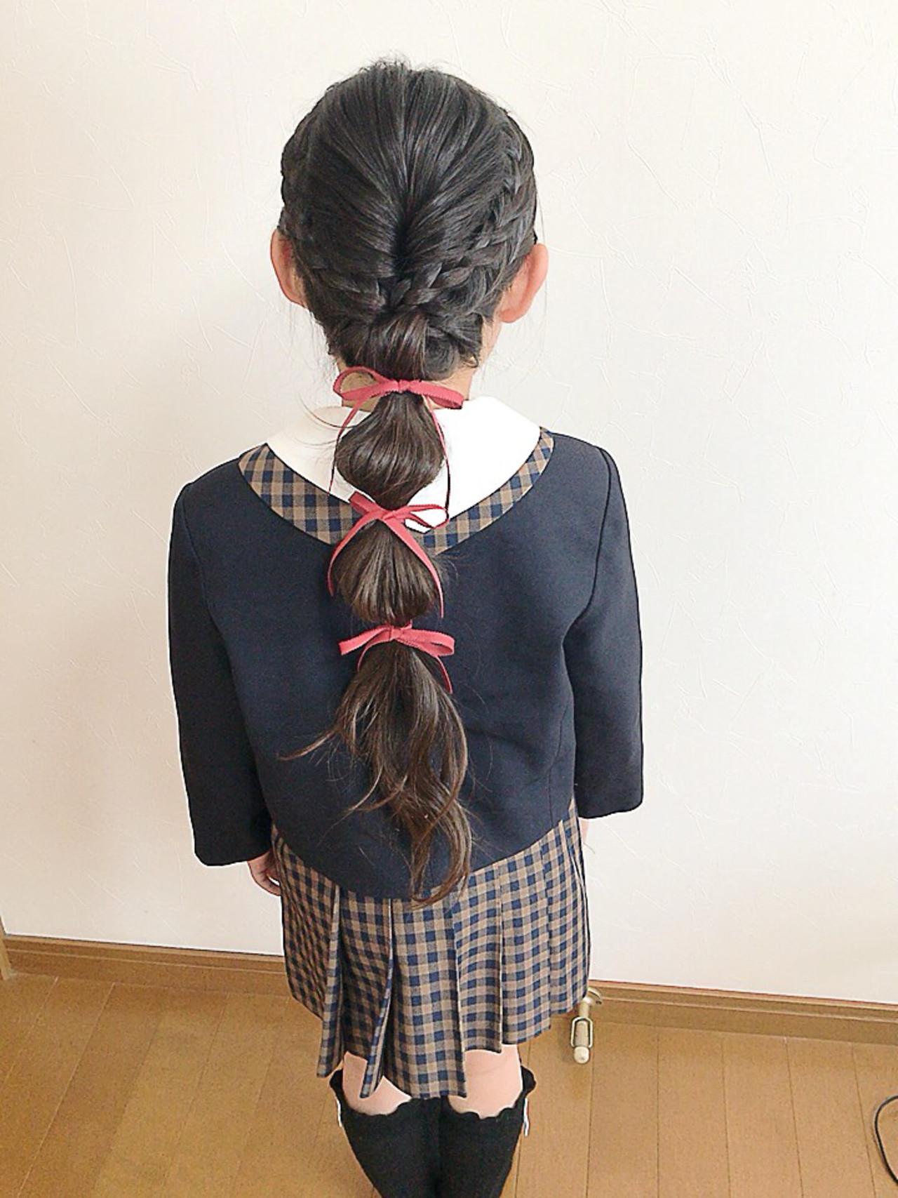 たまねぎアレンジ ヘアアレンジ 子供 ロング ヘアスタイルや髪型の写真・画像