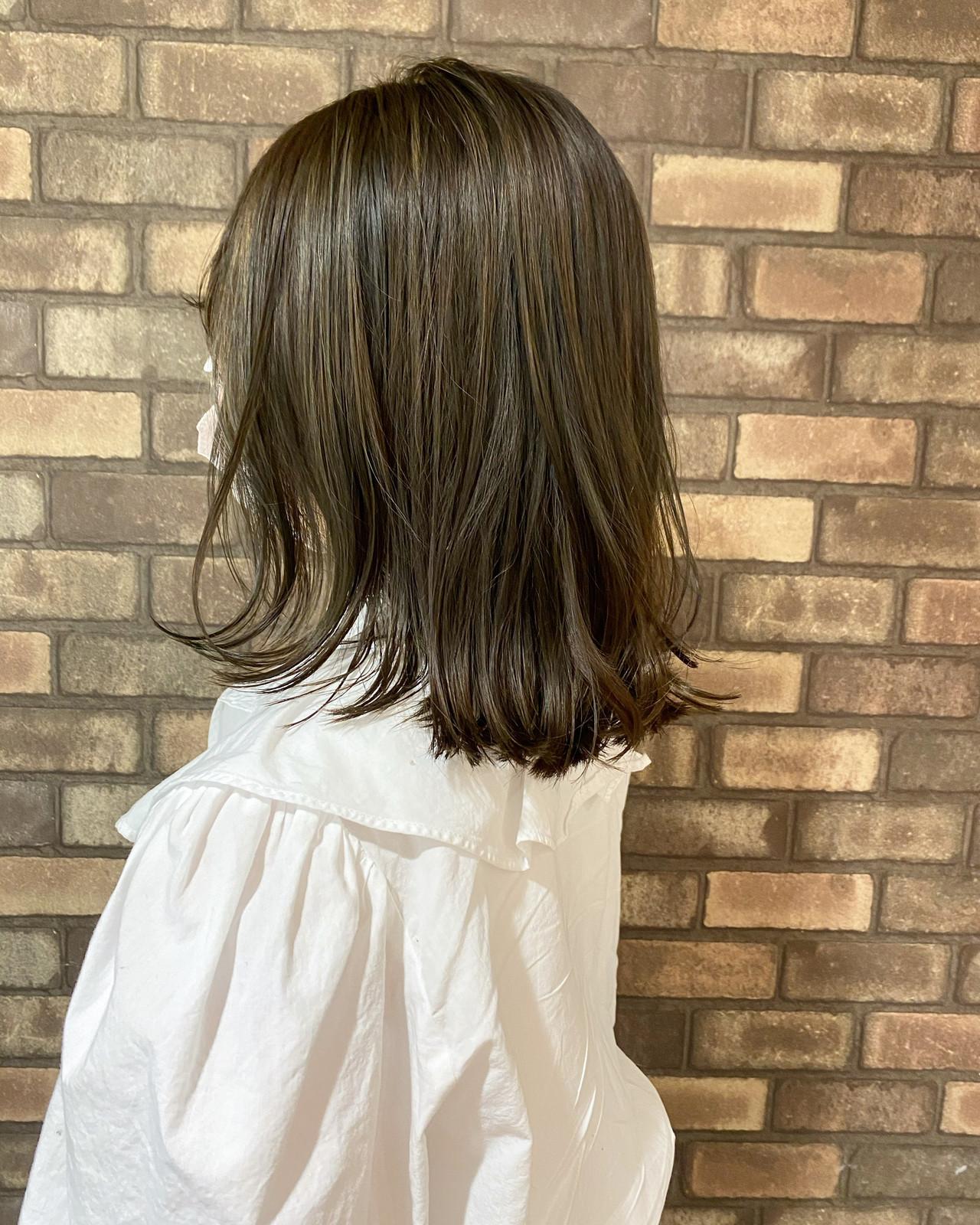 透明感 ハイライト N.オイル ナチュラル ヘアスタイルや髪型の写真・画像