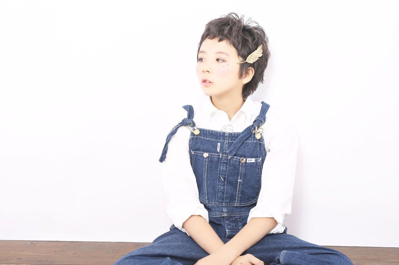 春 抜け感 子供 ショート ヘアスタイルや髪型の写真・画像