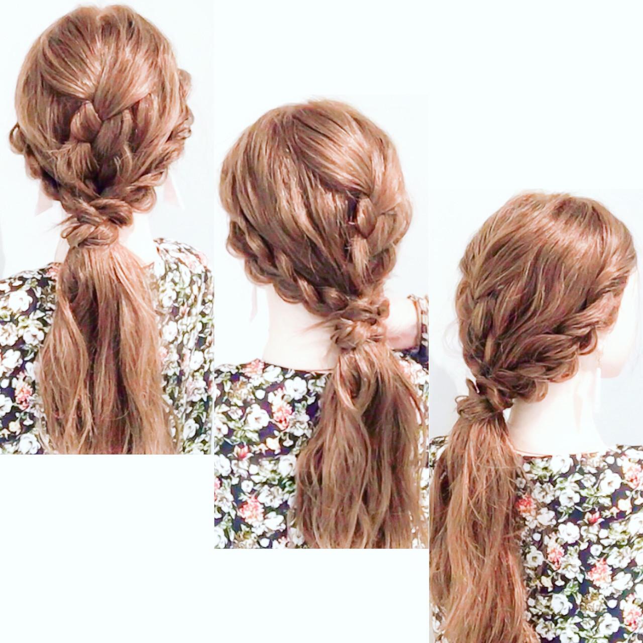 ロング ダウンスタイル 簡単ヘアアレンジ フェミニン ヘアスタイルや髪型の写真・画像