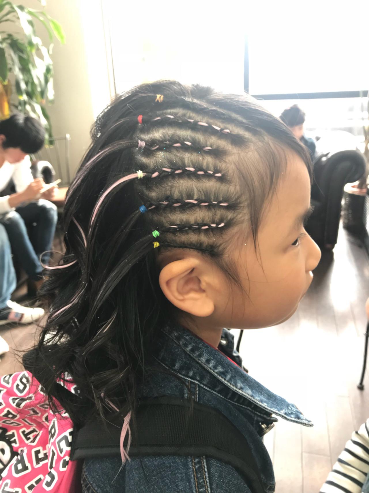 子供 ミディアム ストリート コーンロウ ヘアスタイルや髪型の写真・画像