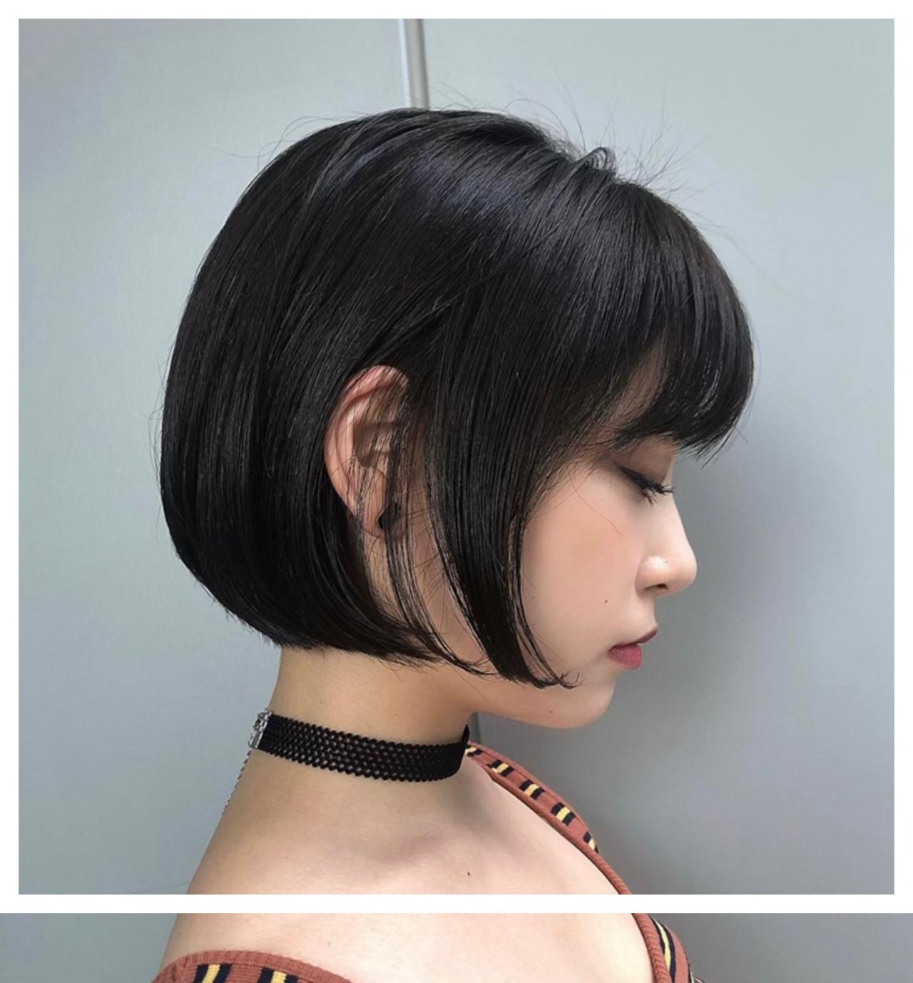 ショートヘア ミニボブ ショートボブ ベリーショート ヘアスタイルや髪型の写真・画像