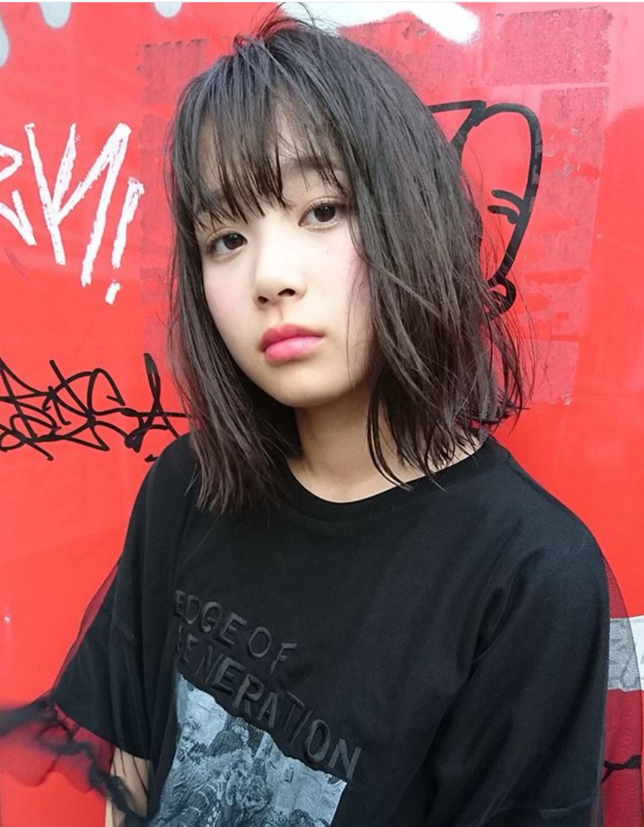 アンニュイほつれヘア ボブ レイヤーボブ ストリート ヘアスタイルや髪型の写真・画像