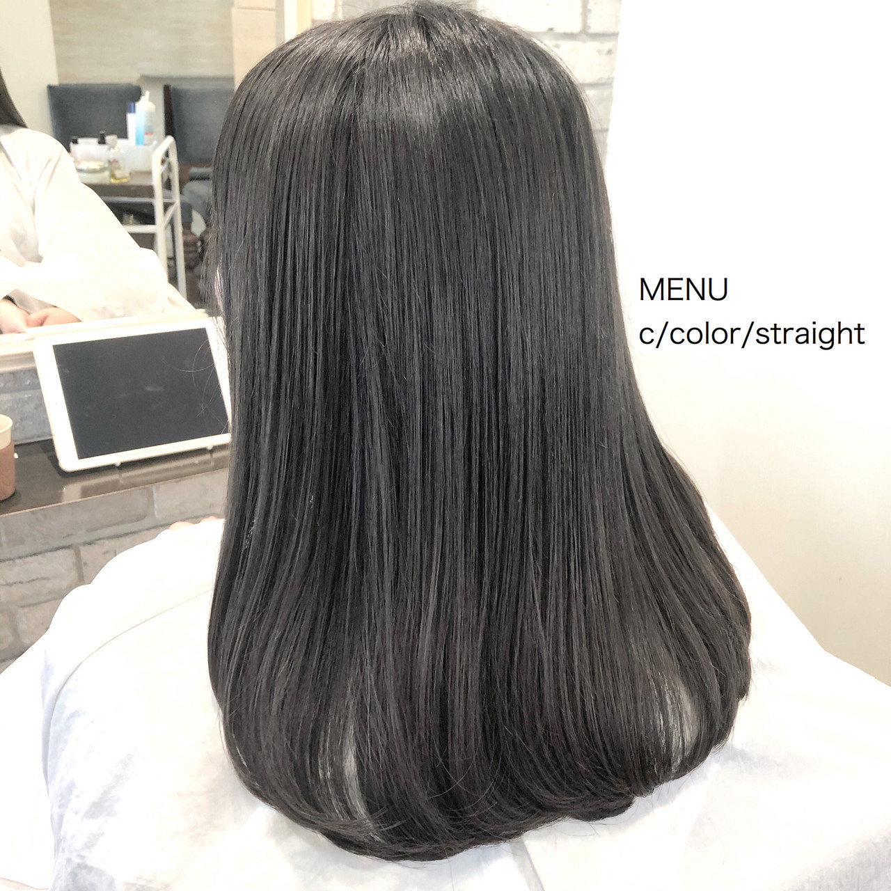 ナチュラル 髪質改善 前髪 縮毛矯正 ヘアスタイルや髪型の写真・画像