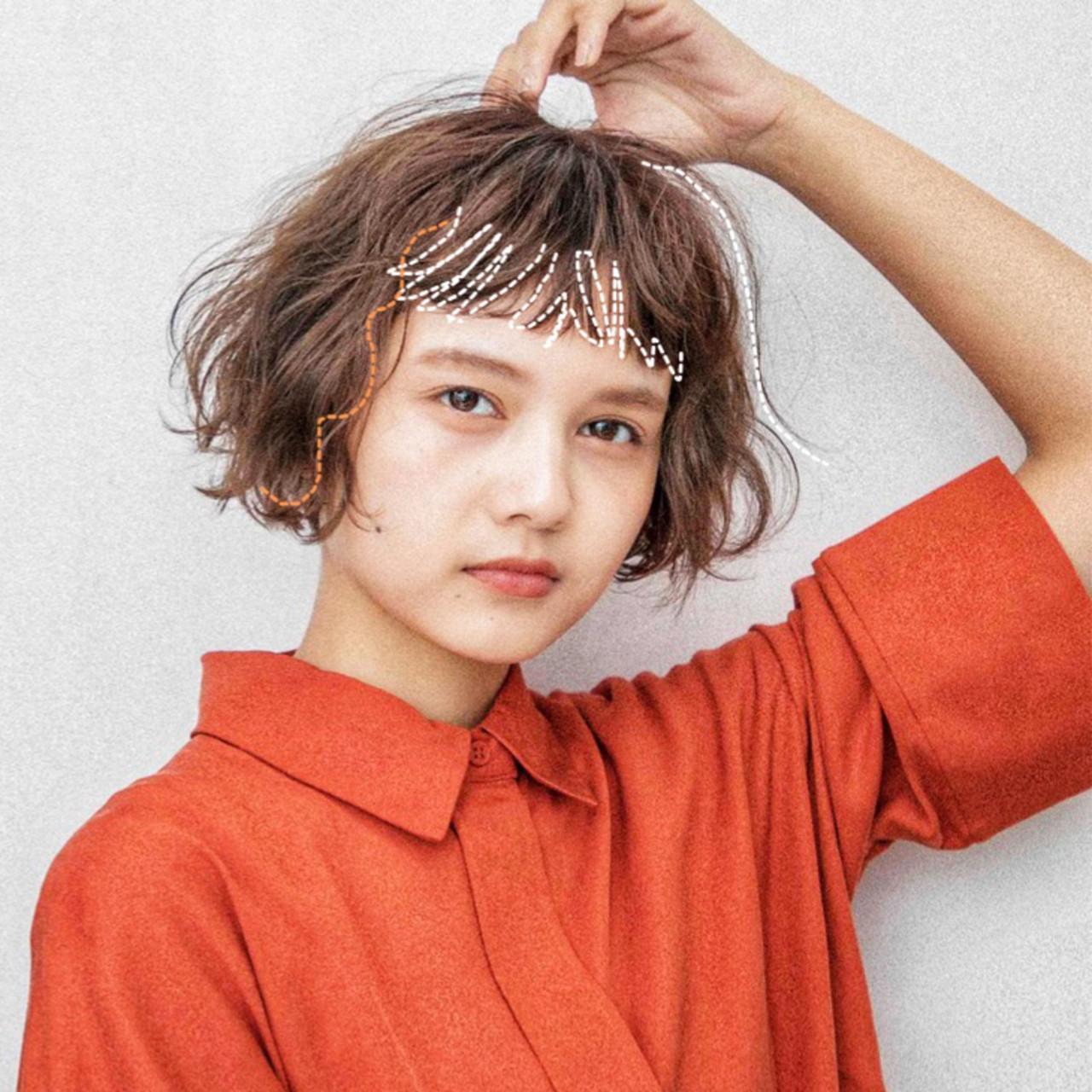 ボブ  ゆるふわパーマ ミニボブ ヘアスタイルや髪型の写真・画像