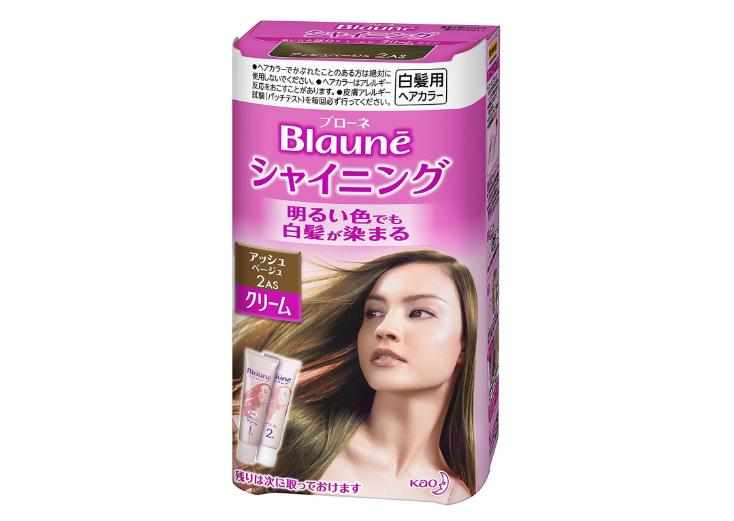 ブローネシャイニングヘアカラークリーム 2AS アッシュベージュ