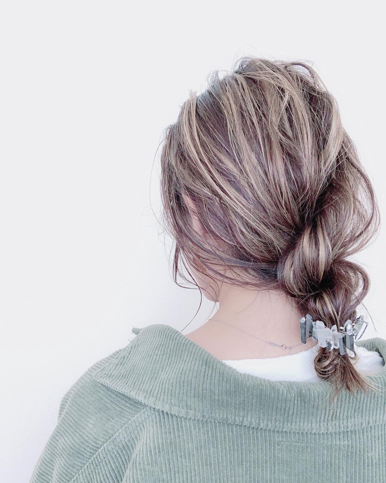 ナチュラル ロープ編み 簡単ヘアアレンジ セルフヘアアレンジ ヘアスタイルや髪型の写真・画像