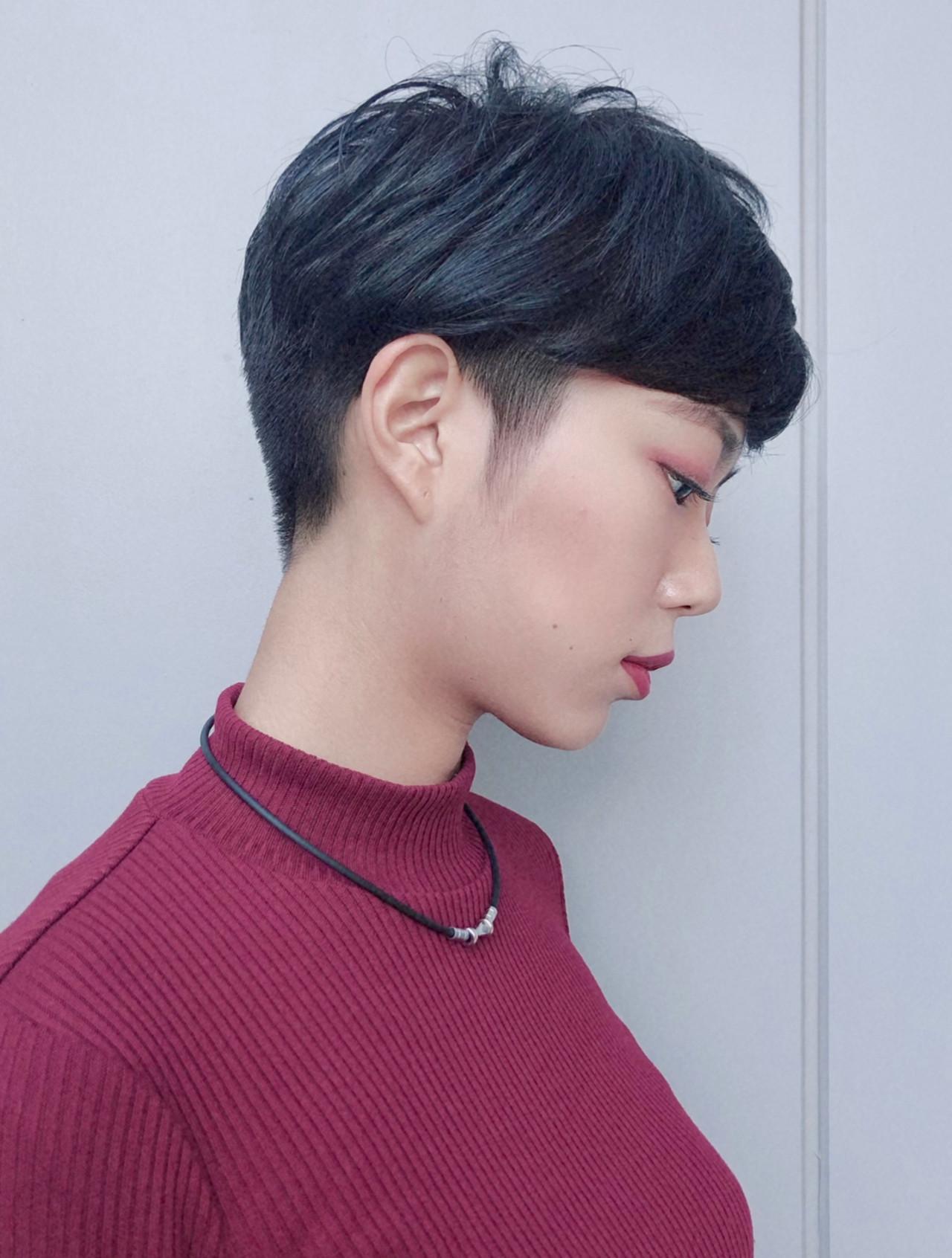 刈り上げショート ショート ショートヘア ハンサムショート ヘアスタイルや髪型の写真・画像