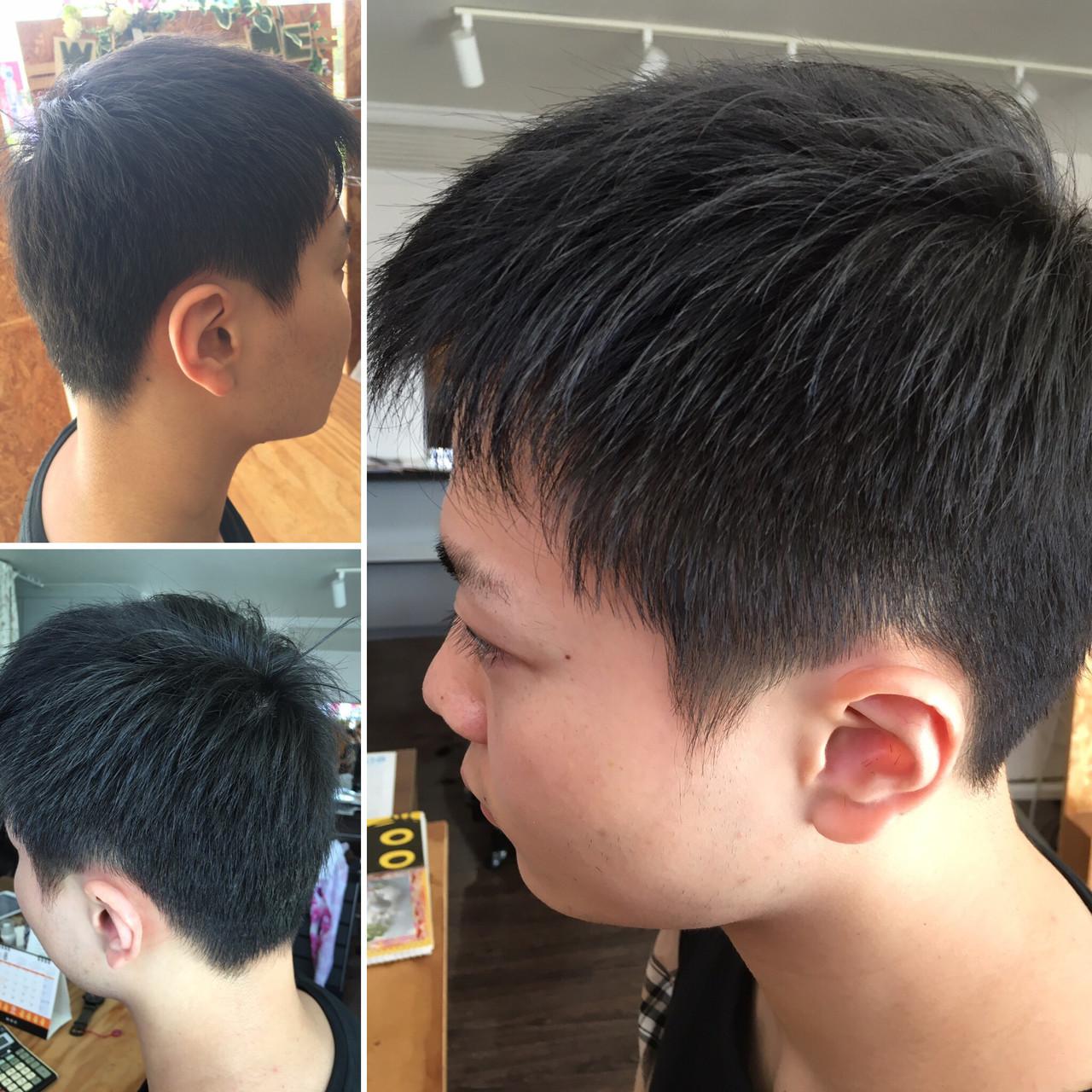 黒髪 ショート ストリート メンズショート ヘアスタイルや髪型の写真・画像