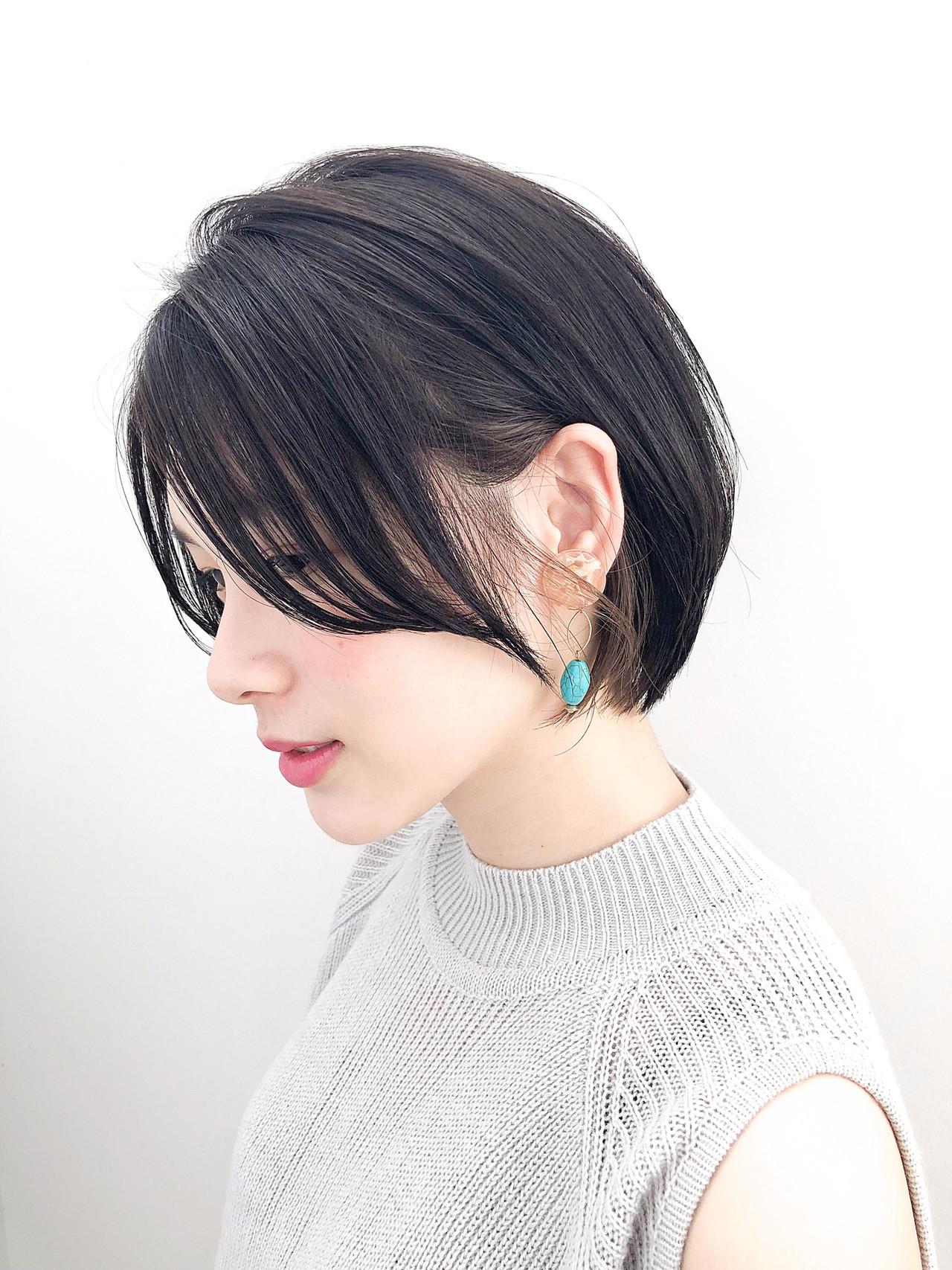 ナチュラル ショートボブ ショート ショートヘア ヘアスタイルや髪型の写真・画像