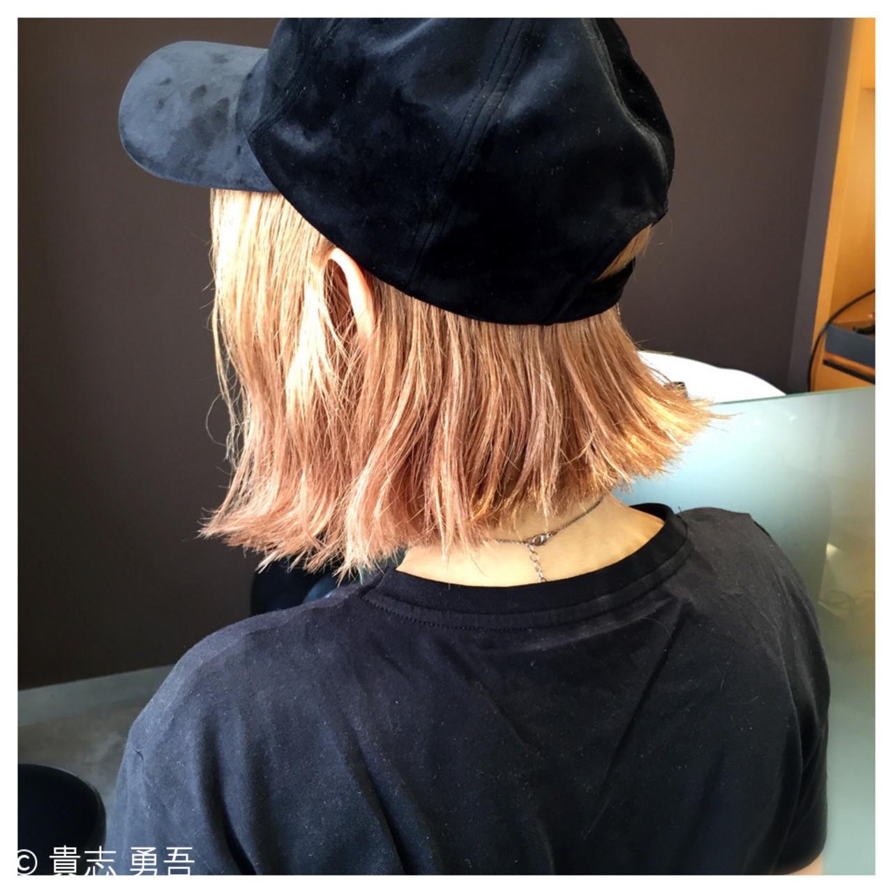 かっこいい ストリート キャップ 切りっぱなし ヘアスタイルや髪型の写真・画像