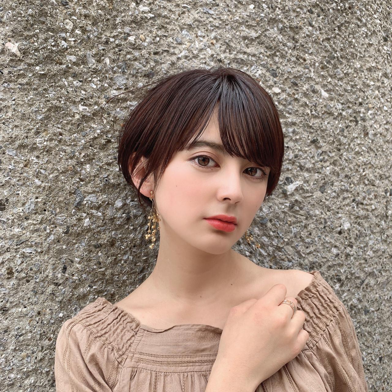 ショート 大人可愛い ショートヘア 髪質改善 ヘアスタイルや髪型の写真・画像