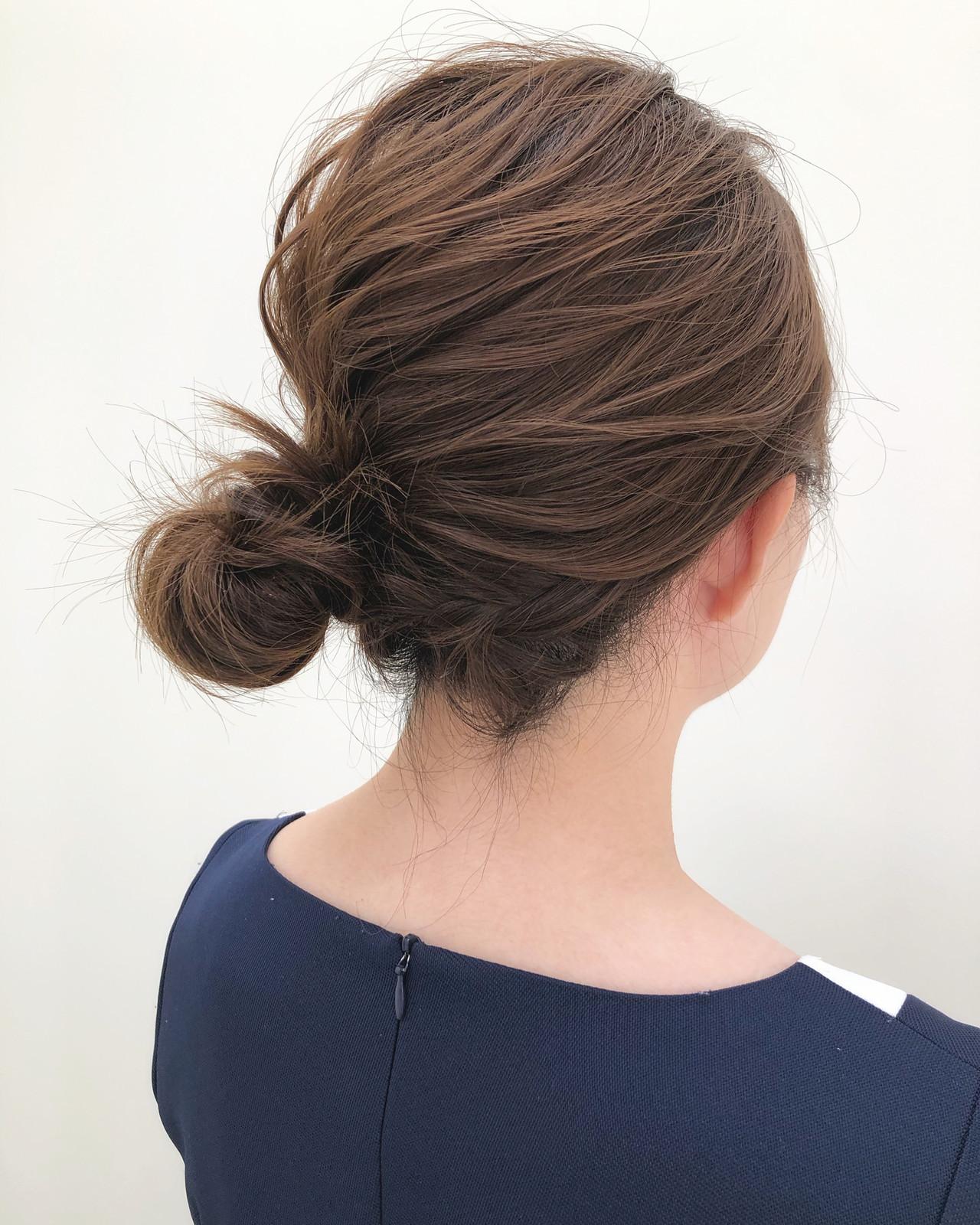 ヘアアレンジ ボブ ナチュラル 簡単ヘアアレンジ ヘアスタイルや髪型の写真・画像