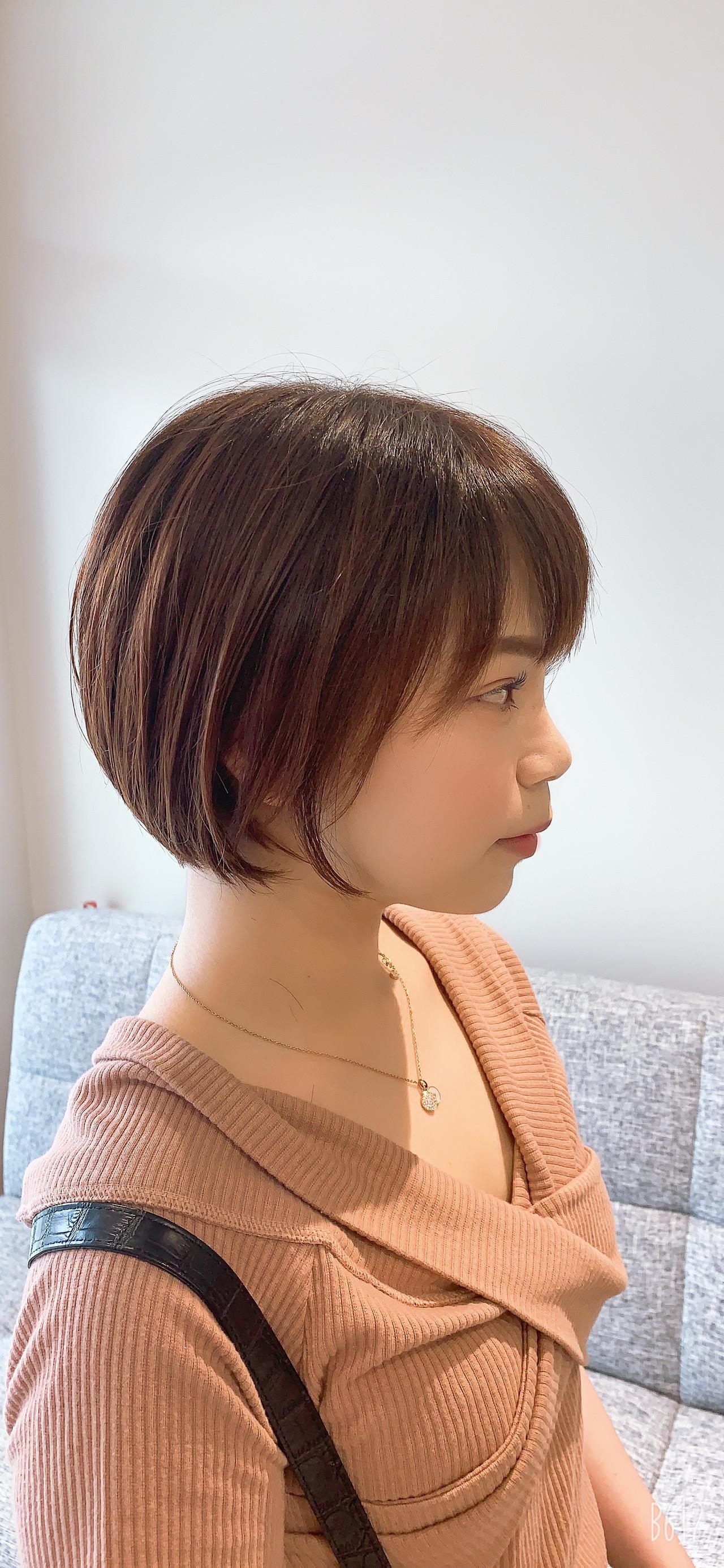 ショートヘア ショートボブ ミニボブ ショート ヘアスタイルや髪型の写真・画像