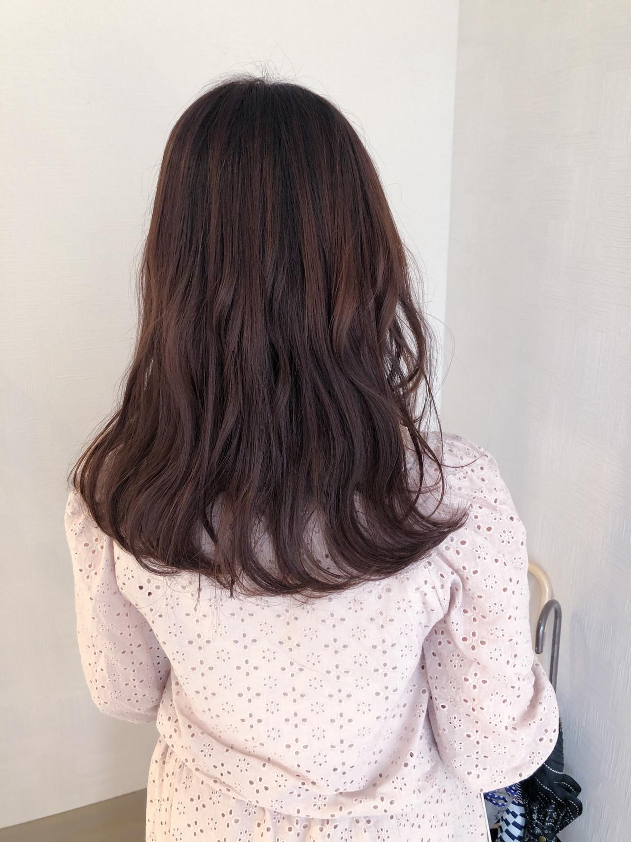 ナチュラル ラベンダーピンク ピンクベージュ ピンクブラウン ヘアスタイルや髪型の写真・画像