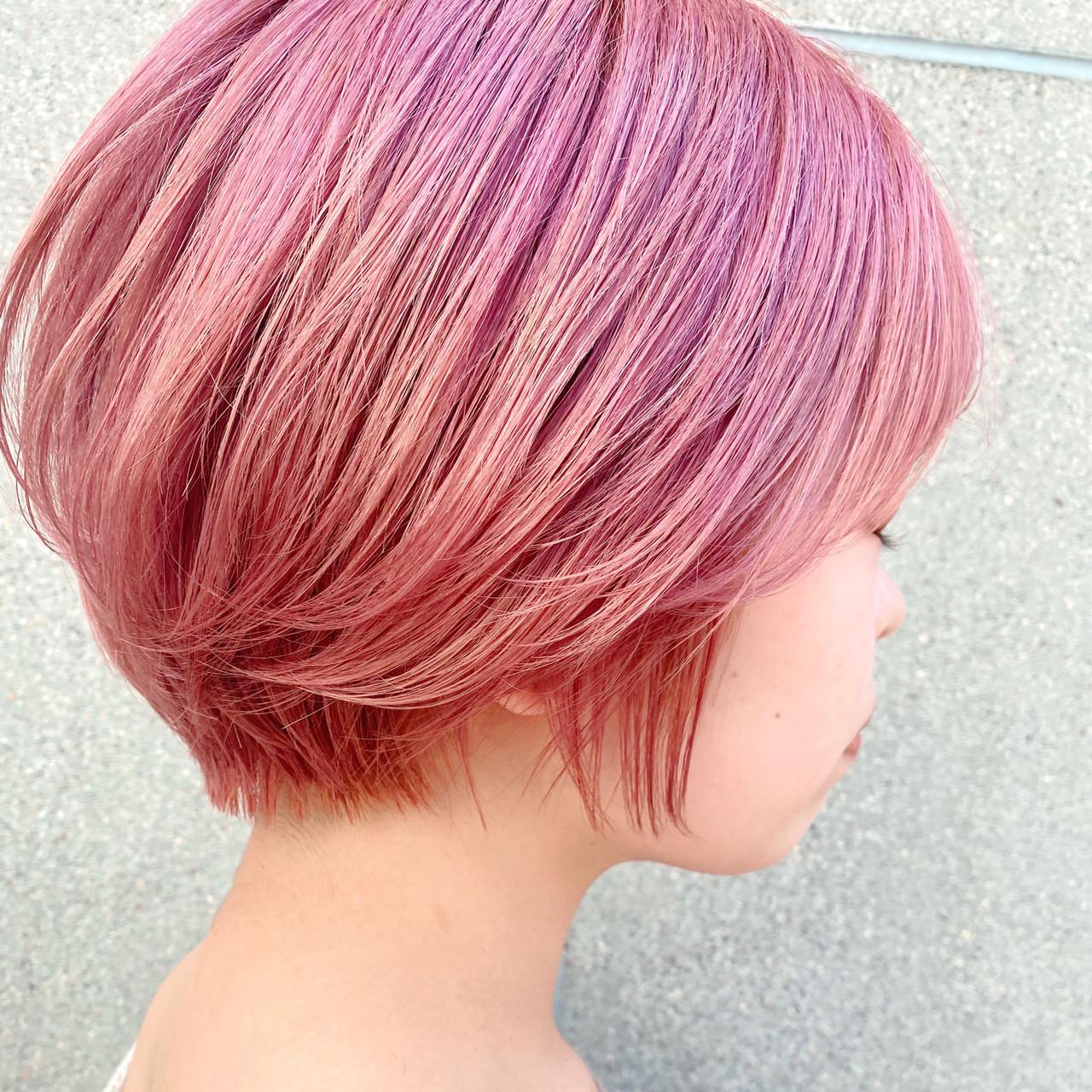 ショート ナチュラル ショートボブ 透明感カラー ヘアスタイルや髪型の写真・画像