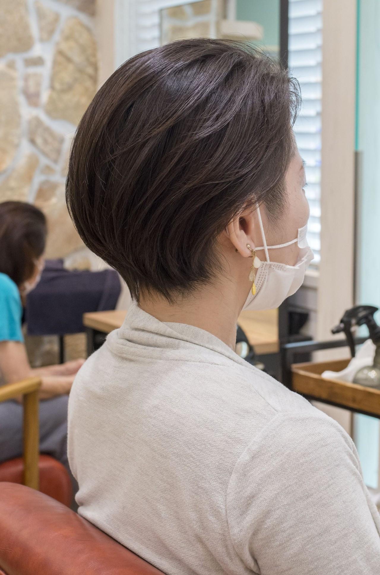 ナチュラル 刈り上げ 刈り上げ女子 ツーブロック ヘアスタイルや髪型の写真・画像
