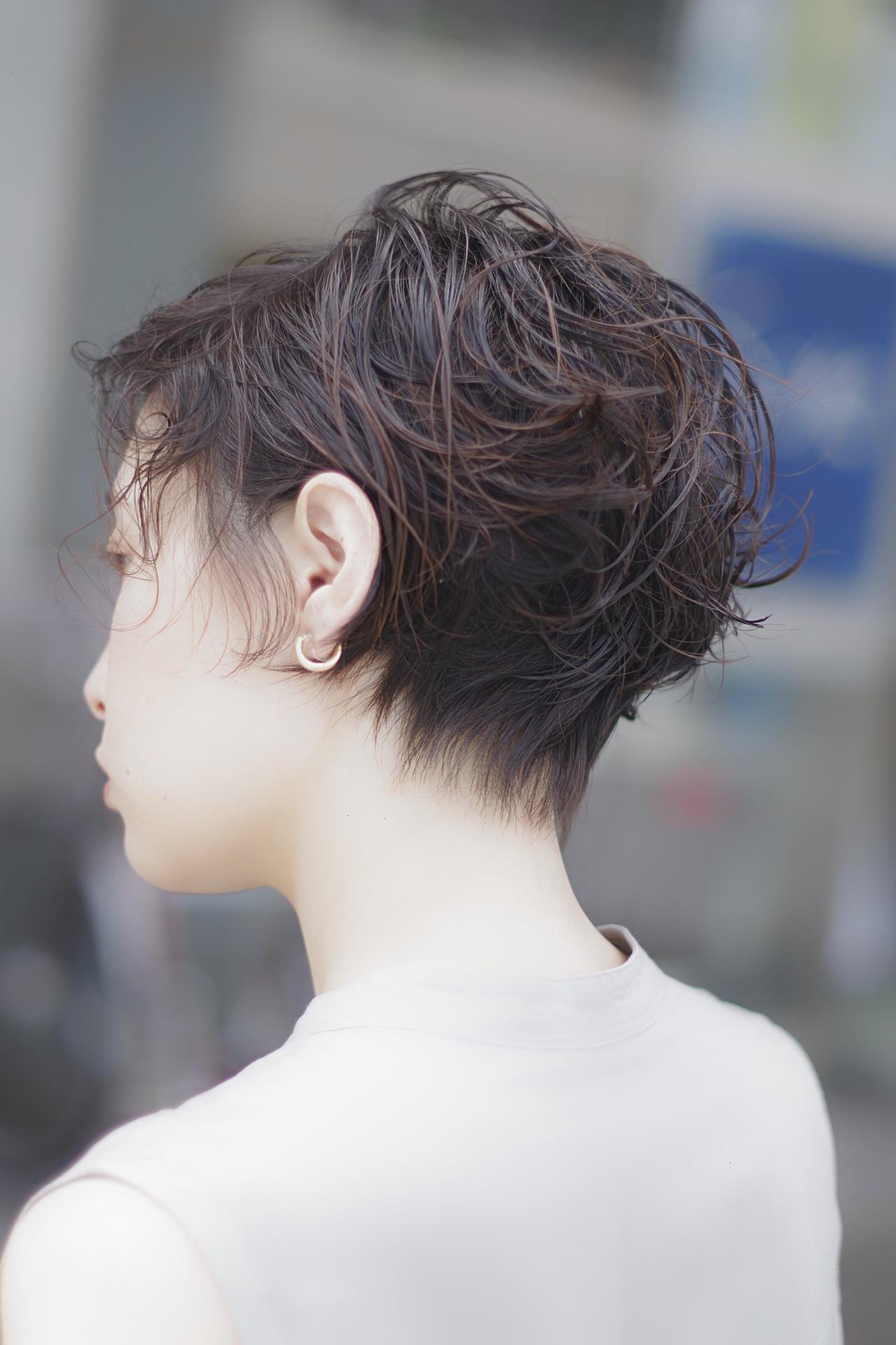 無造作パーマ ベリーショート ショートヘア ショート ヘアスタイルや髪型の写真・画像