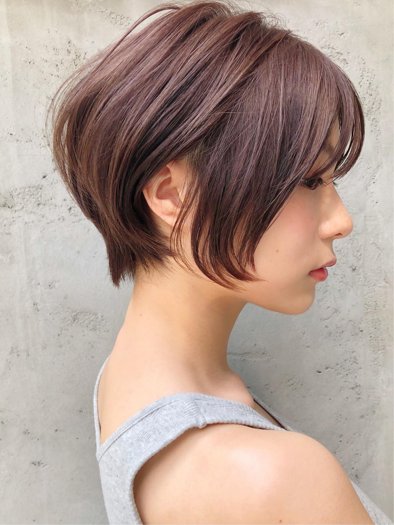 ハンサムショート ショートヘア アンニュイほつれヘア ショート ヘアスタイルや髪型の写真・画像