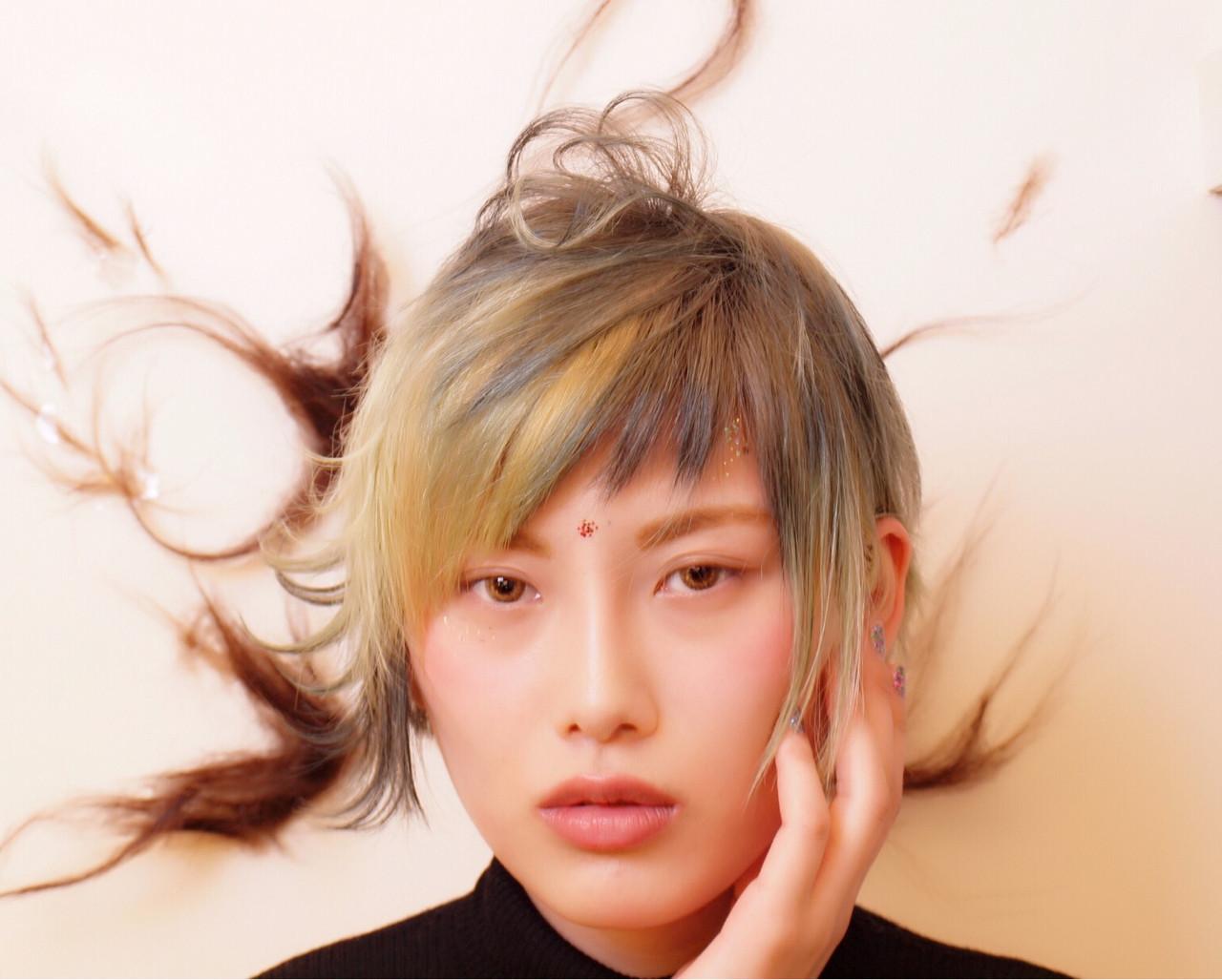 ショート ストリート 個性的 ヘアスタイルや髪型の写真・画像