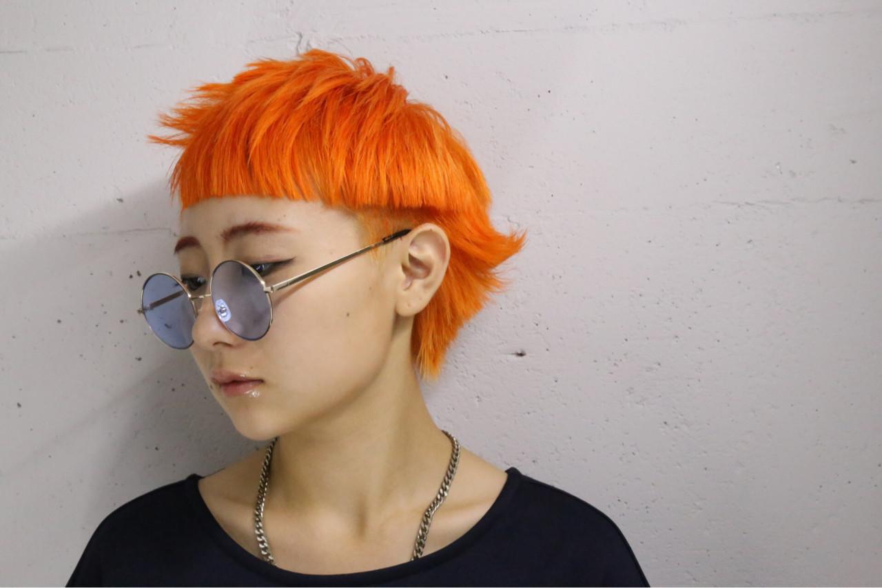 ショート ベリーショート マッシュ 個性的 ヘアスタイルや髪型の写真・画像