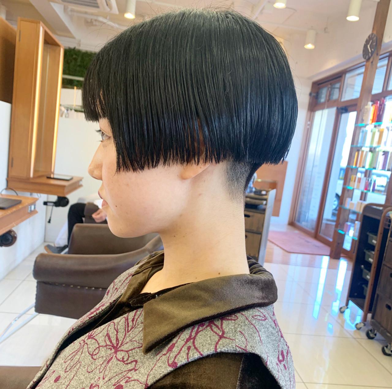 モード マッシュショート ショート ショートヘア ヘアスタイルや髪型の写真・画像