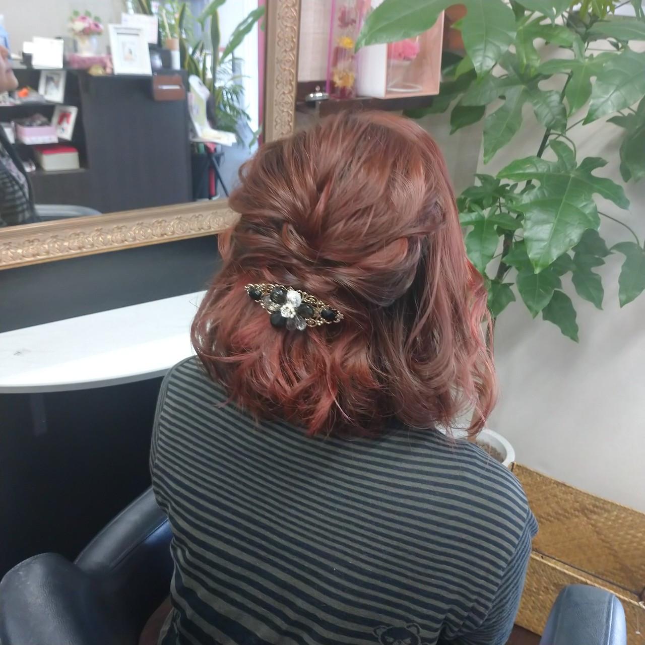 ナチュラル ヘアアレンジ ボブ 簡単ヘアアレンジ ヘアスタイルや髪型の写真・画像