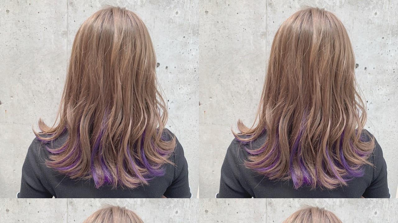 インナーカラーは紫がキテる!ミステリアスなパープルカラーとは?
