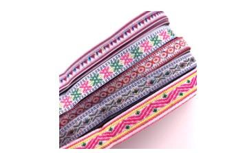 チロリアンテープを本体布に縫い付ける