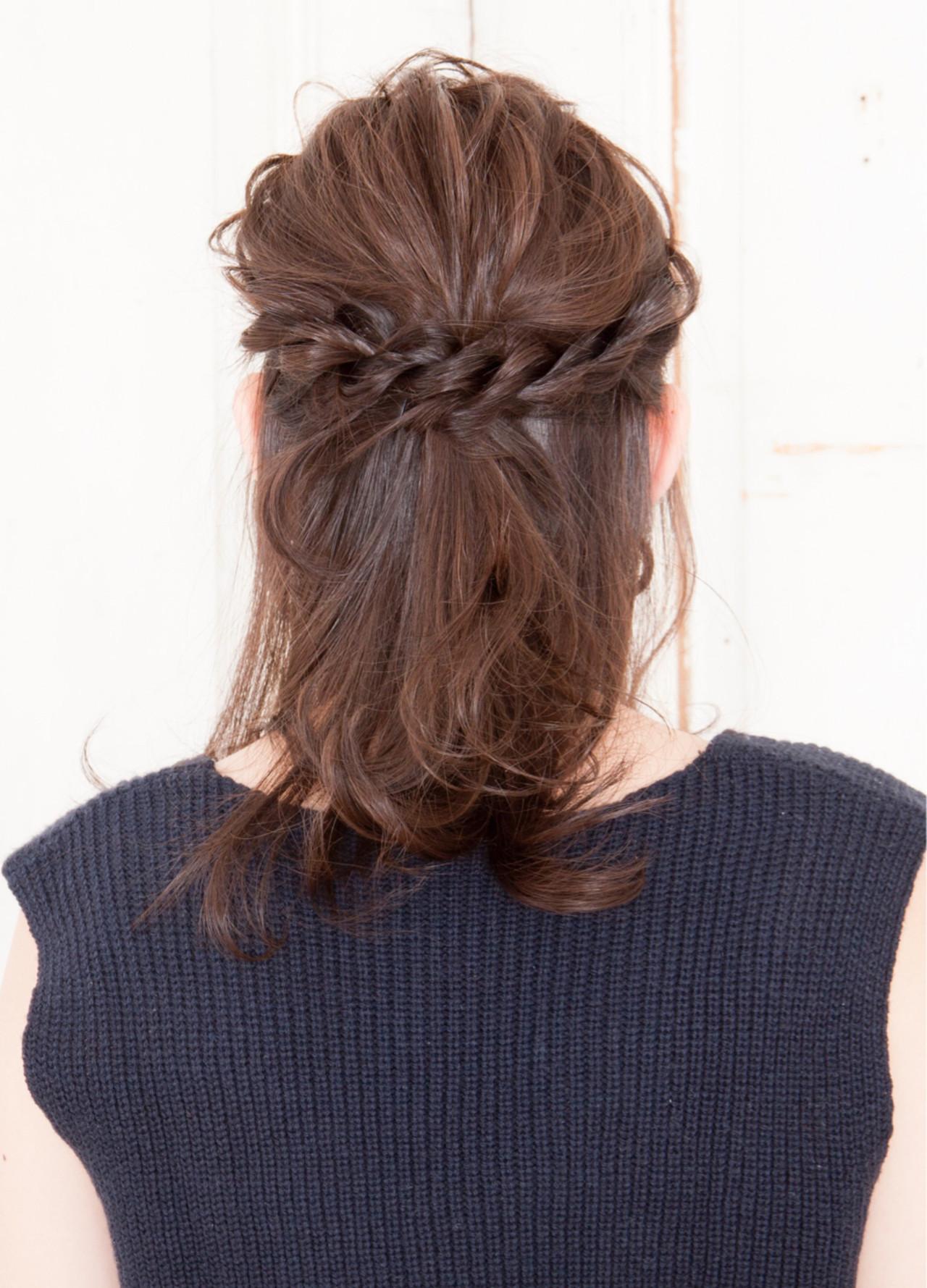 上品 エレガント イルミナカラー 編み込み ヘアスタイルや髪型の写真・画像