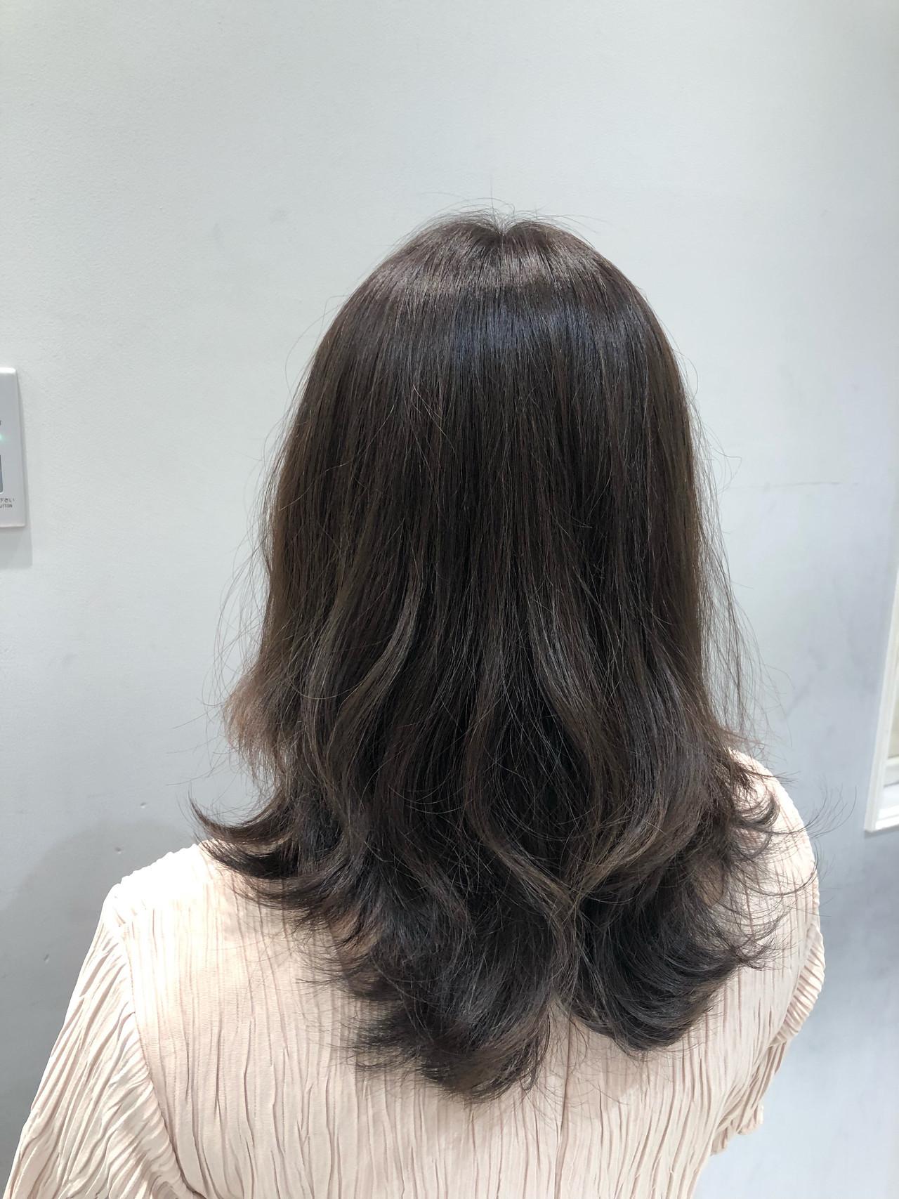 ナチュラルデジパ フェミニン デジタルパーマ 無造作パーマ ヘアスタイルや髪型の写真・画像