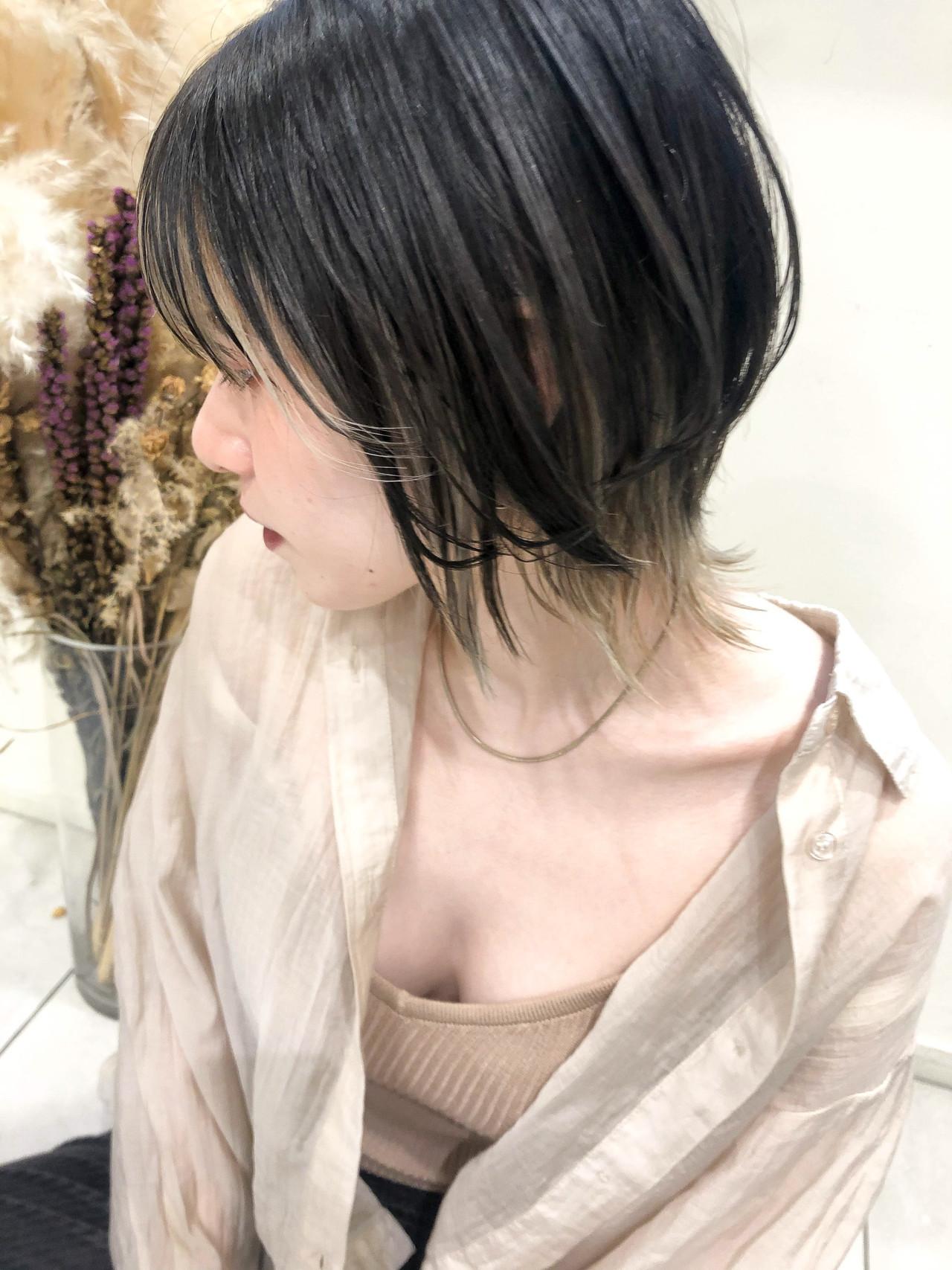 アンニュイほつれヘア ショート ウルフカット ネオウルフ ヘアスタイルや髪型の写真・画像