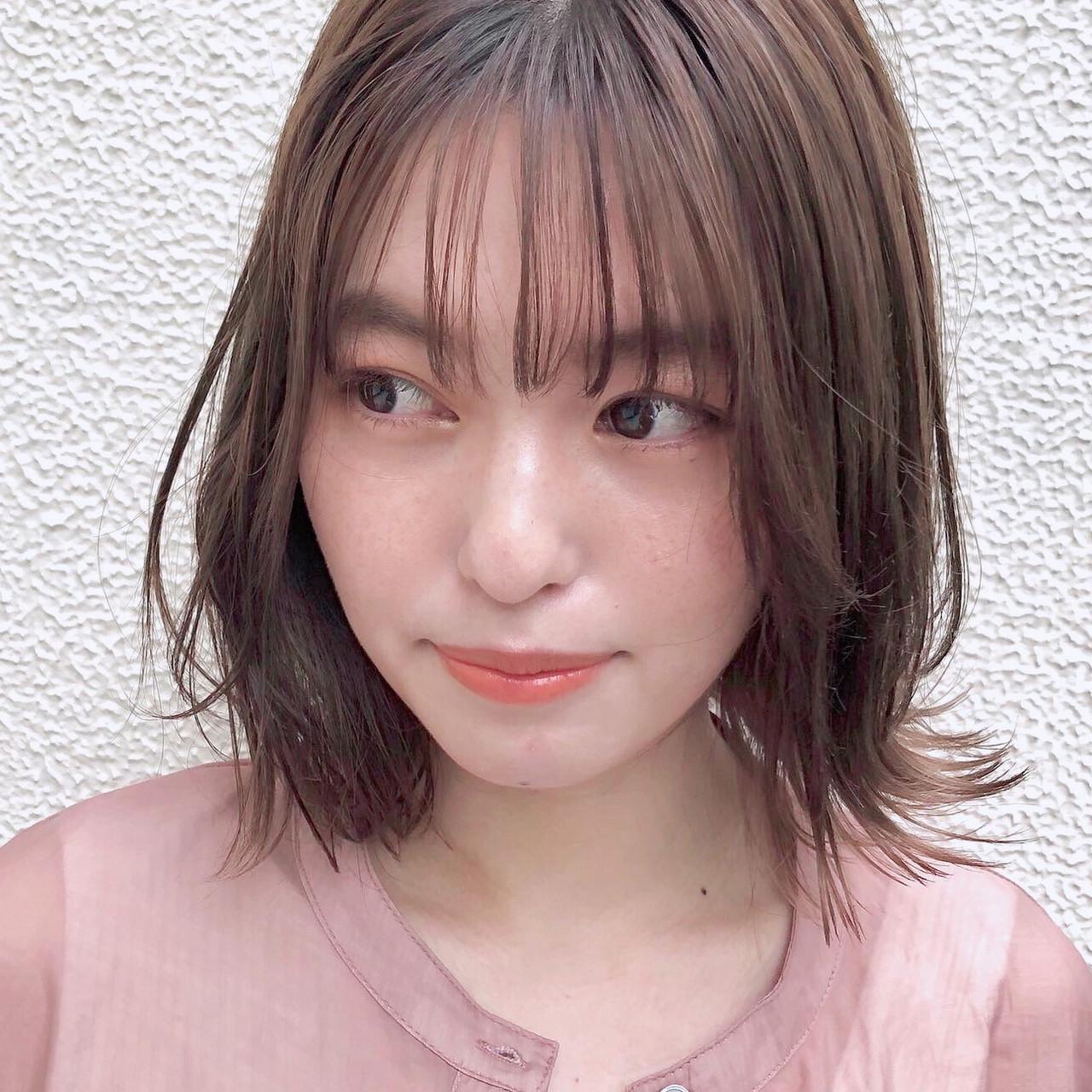 デジタルパーマ デート モテ髪 ナチュラル ヘアスタイルや髪型の写真・画像