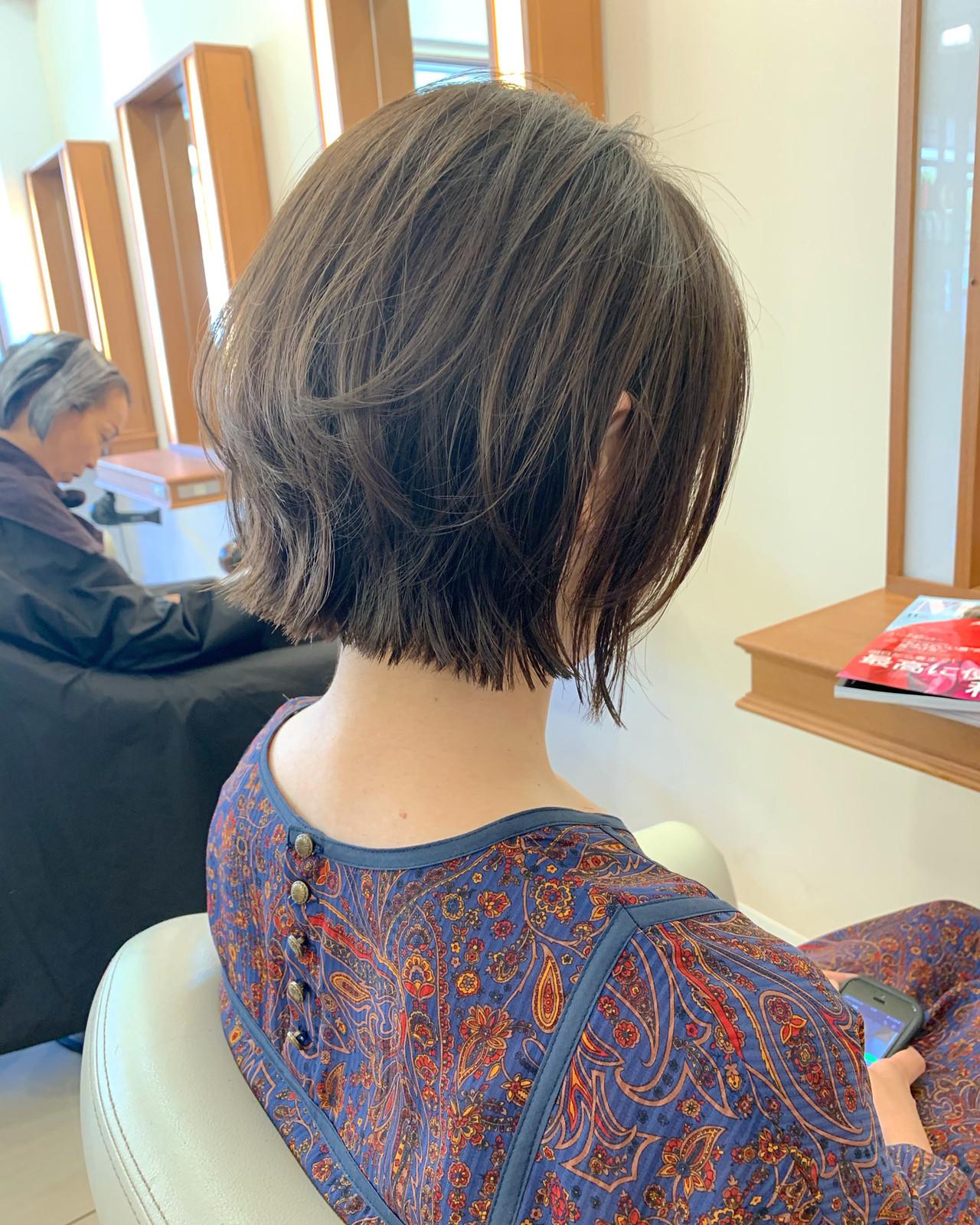 まとまるボブ レイヤーボブ ショート ミニボブ ヘアスタイルや髪型の写真・画像