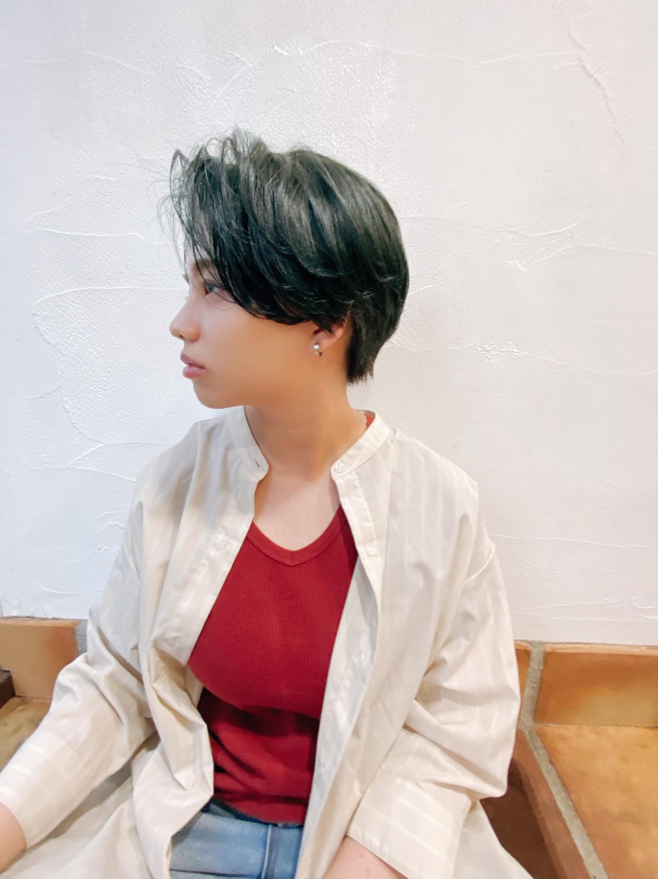 ベリーショート ショートヘア ショートボブ モード ヘアスタイルや髪型の写真・画像