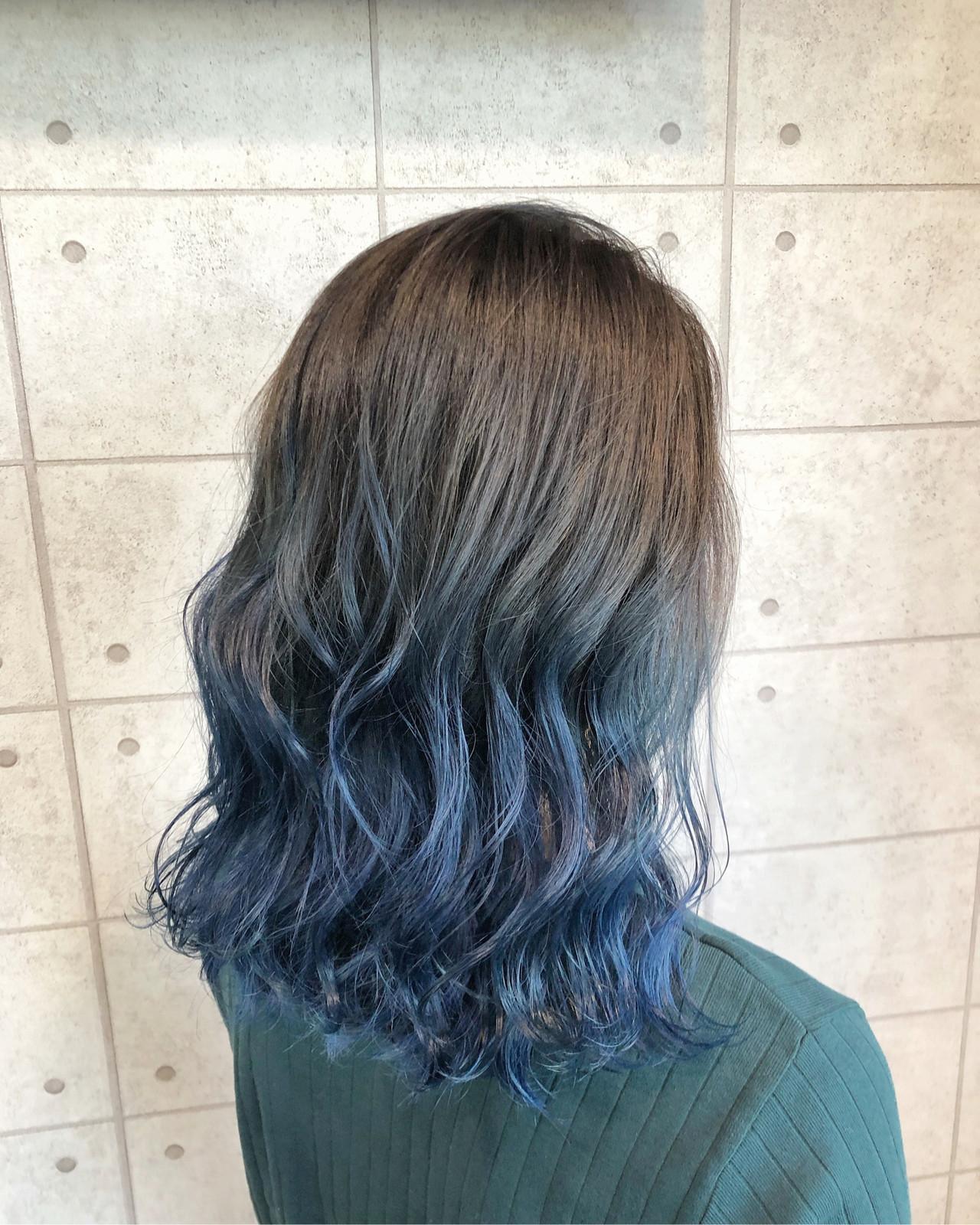モード ブルージュ イルミナカラー ブリーチカラー ヘアスタイルや髪型の写真・画像