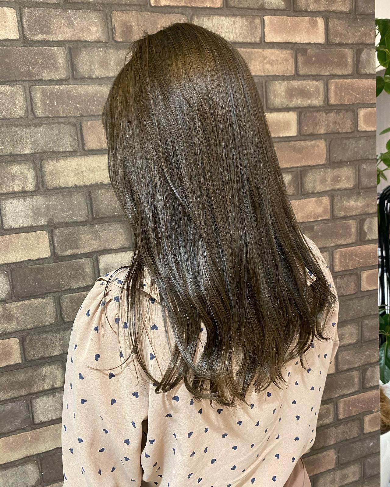 透明感 ナチュラル 大人ミディアム N.オイル ヘアスタイルや髪型の写真・画像