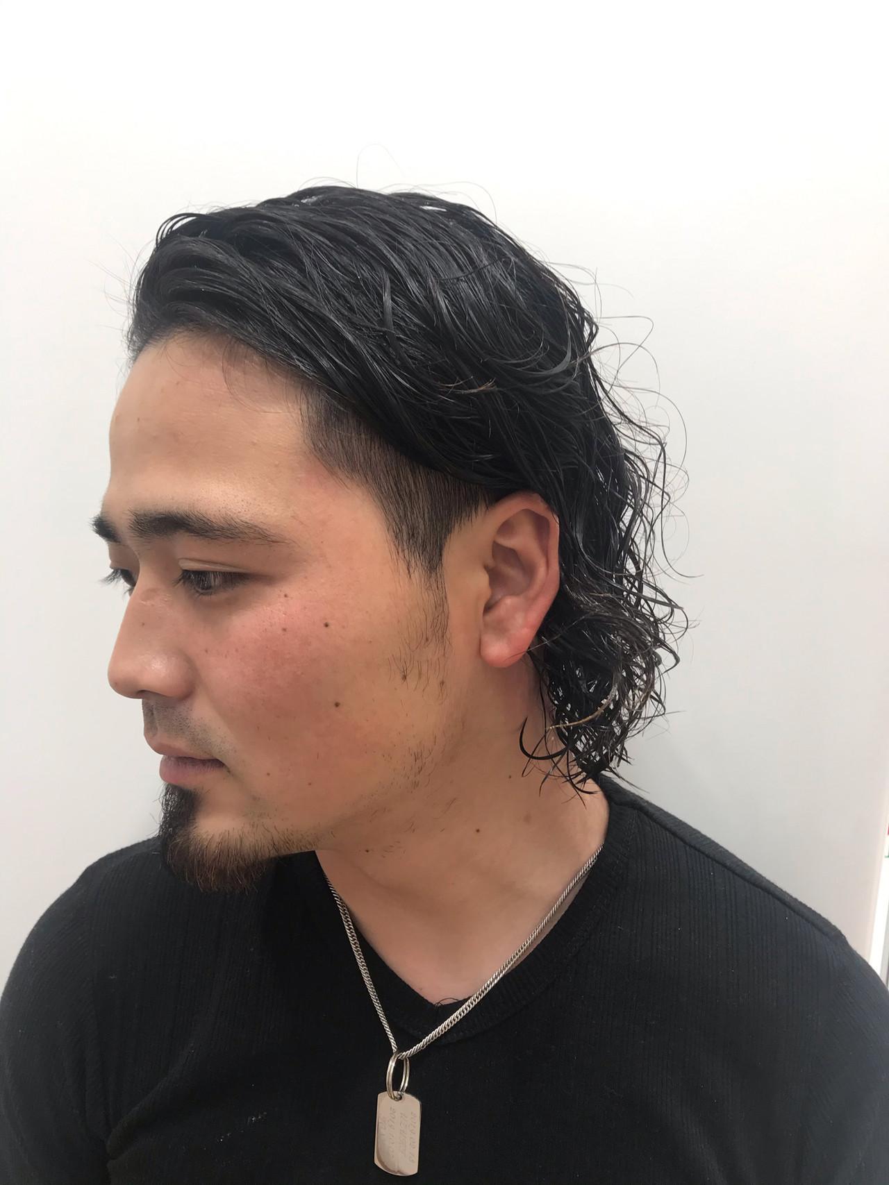 かっこいい オールバック ストリート ボブ ヘアスタイルや髪型の写真・画像