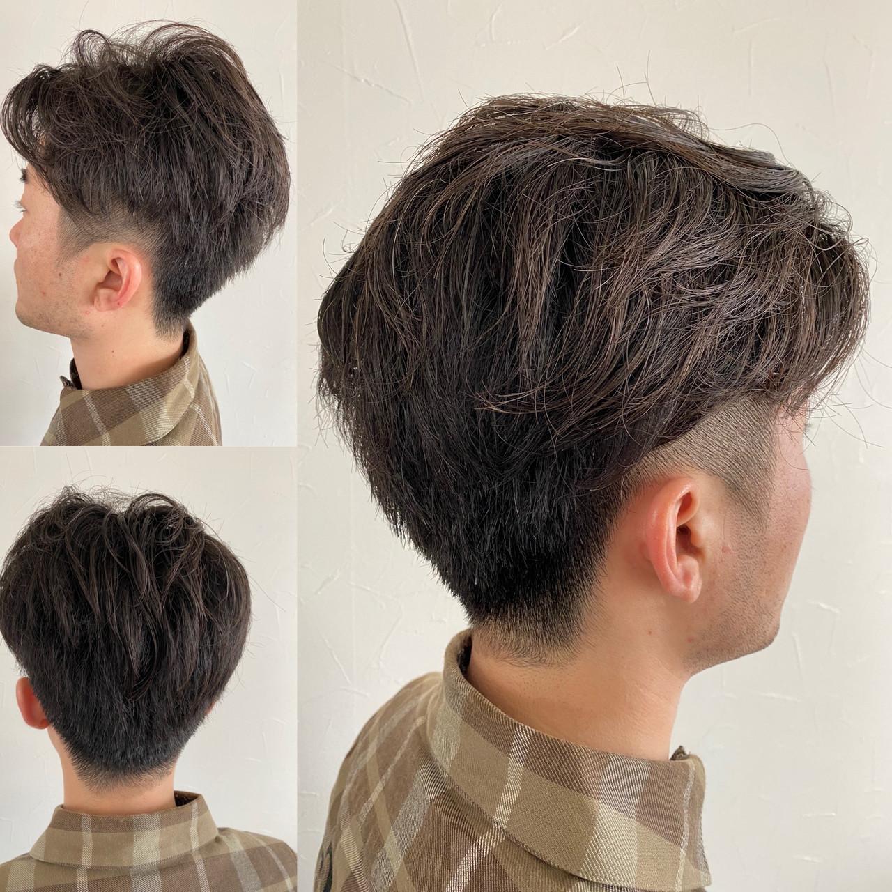 メンズショート ツーブロック ベリーショート ストリート ヘアスタイルや髪型の写真・画像