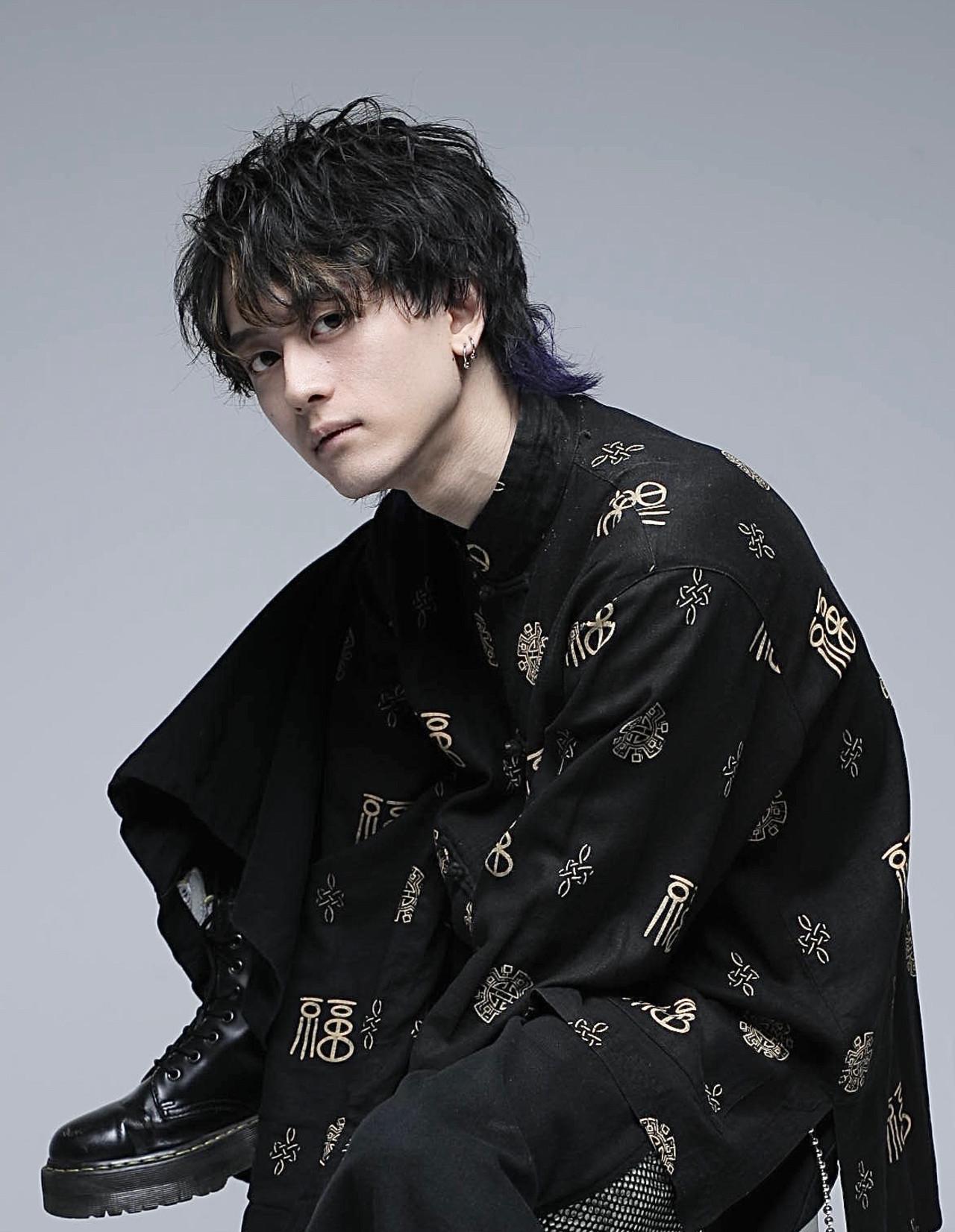 モード ミディアム スパイラルパーマ メンズヘア ヘアスタイルや髪型の写真・画像