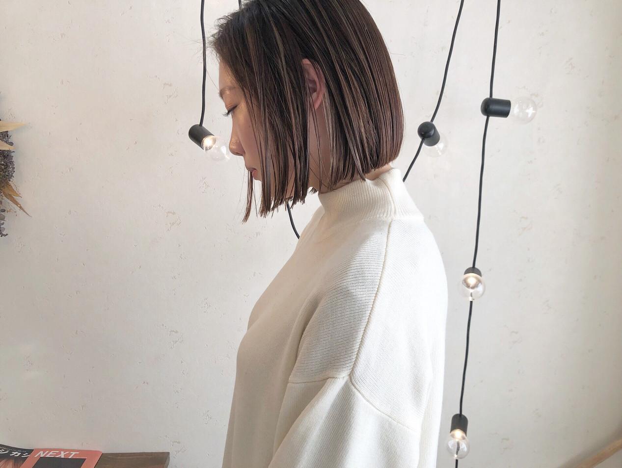 ミニボブ ショートボブ ショート ナチュラル ヘアスタイルや髪型の写真・画像
