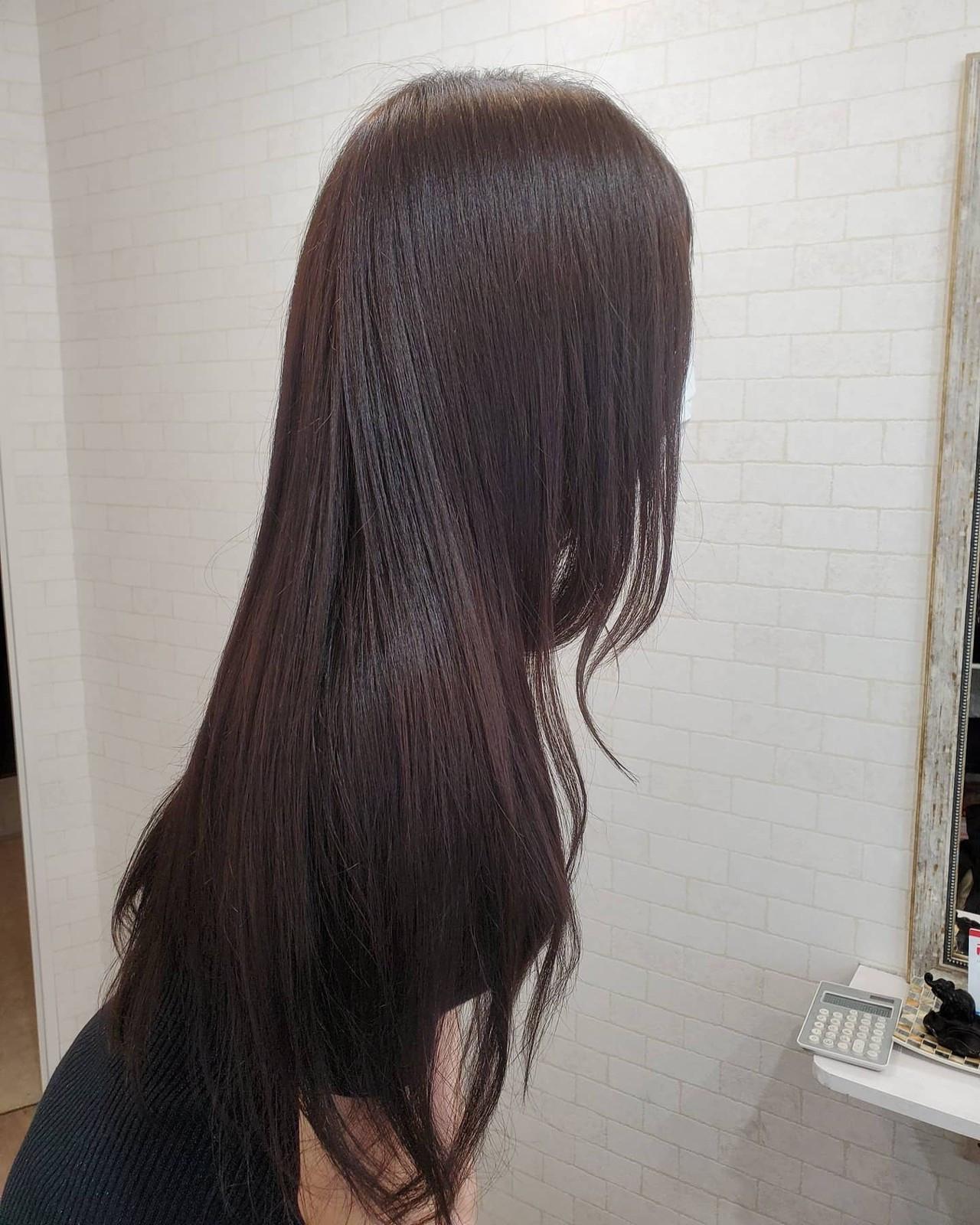 縮毛矯正ストカール エレガント ロング 縮毛矯正 ヘアスタイルや髪型の写真・画像