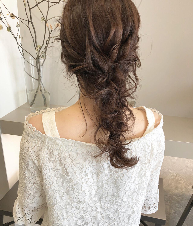 大人可愛い 編みおろし ロング ナチュラル ヘアスタイルや髪型の写真・画像