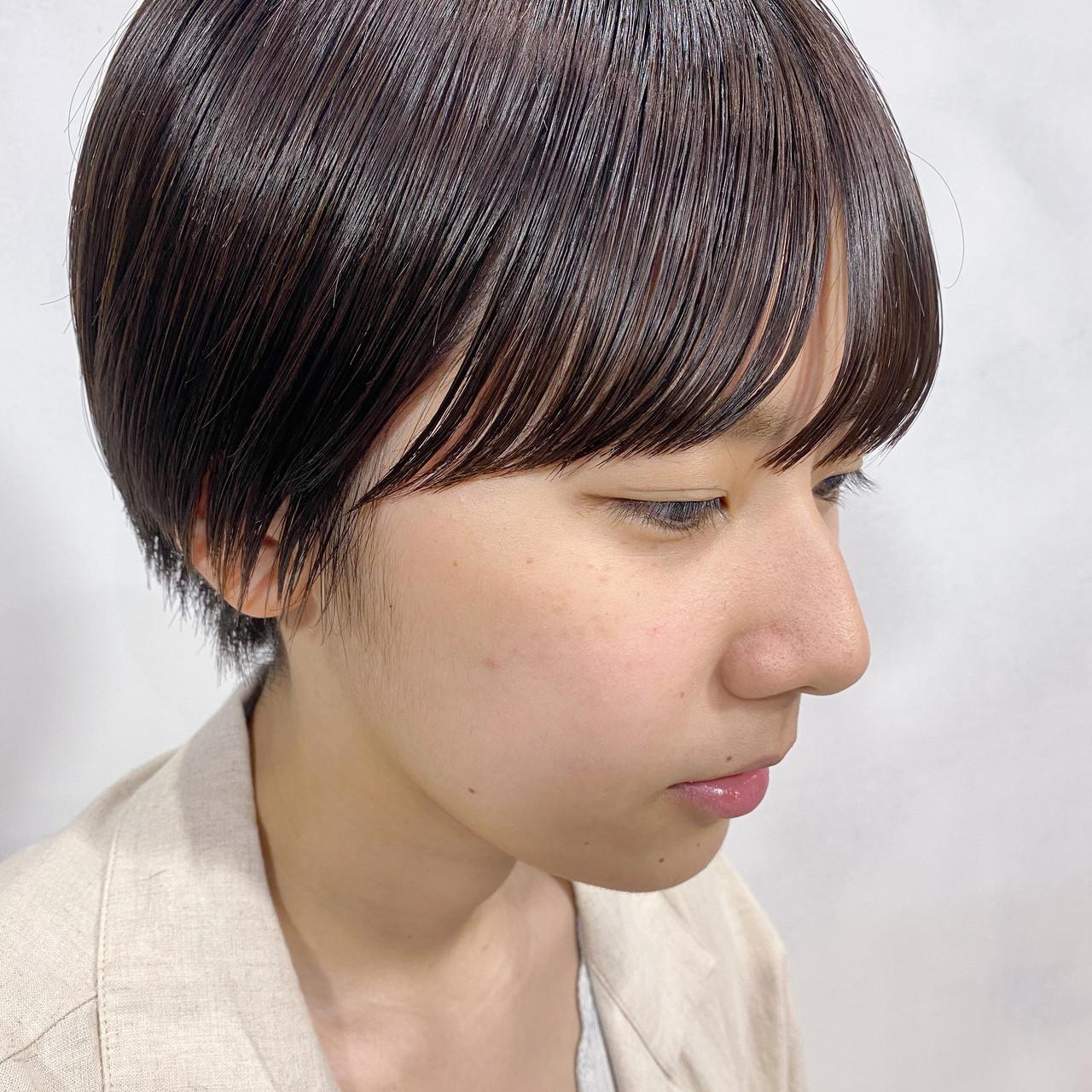 マッシュショート ヘアオイル ショート ベリーショート ヘアスタイルや髪型の写真・画像
