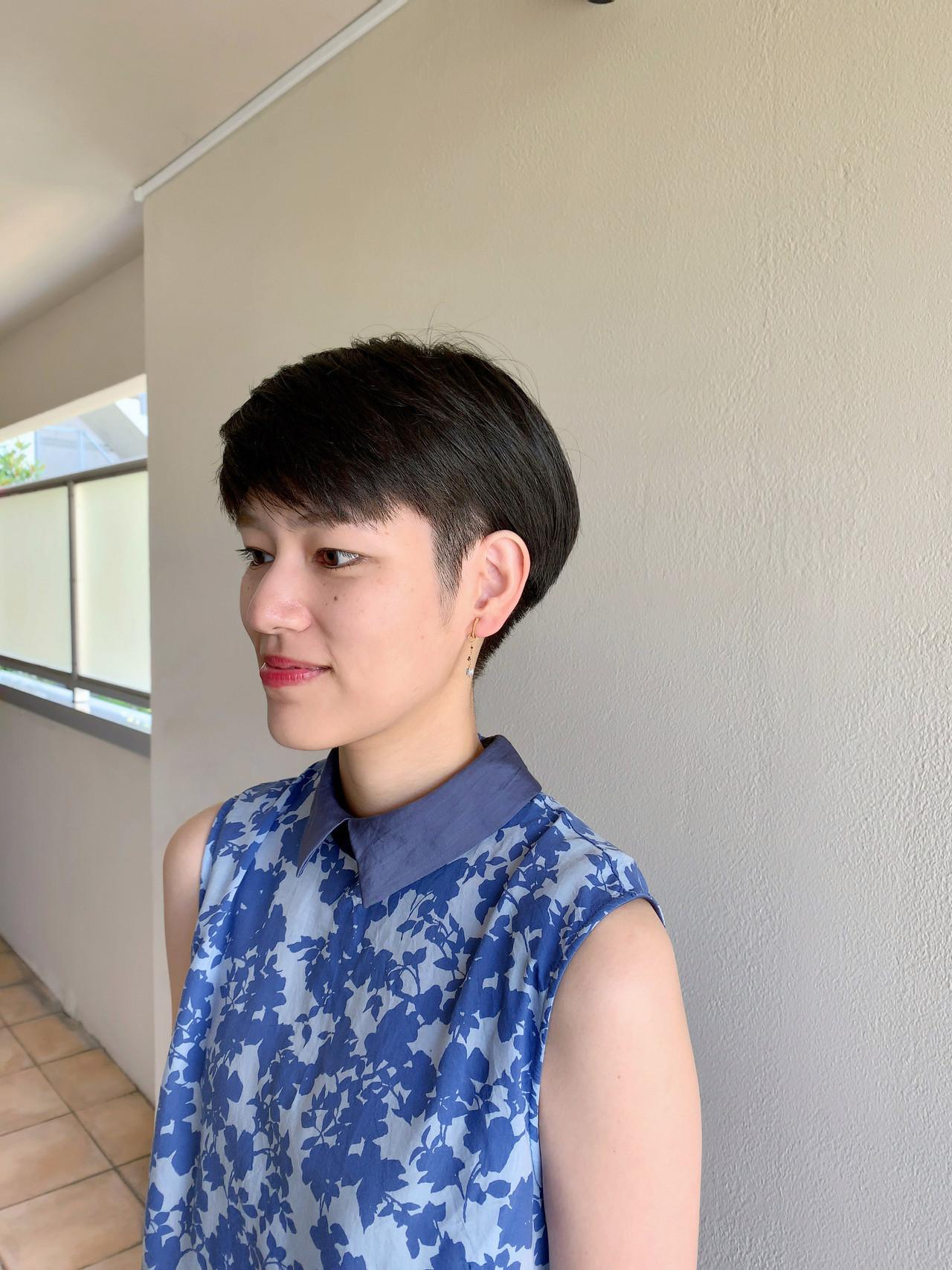 ベリーショート ショートボブ ナチュラル ミニボブ ヘアスタイルや髪型の写真・画像