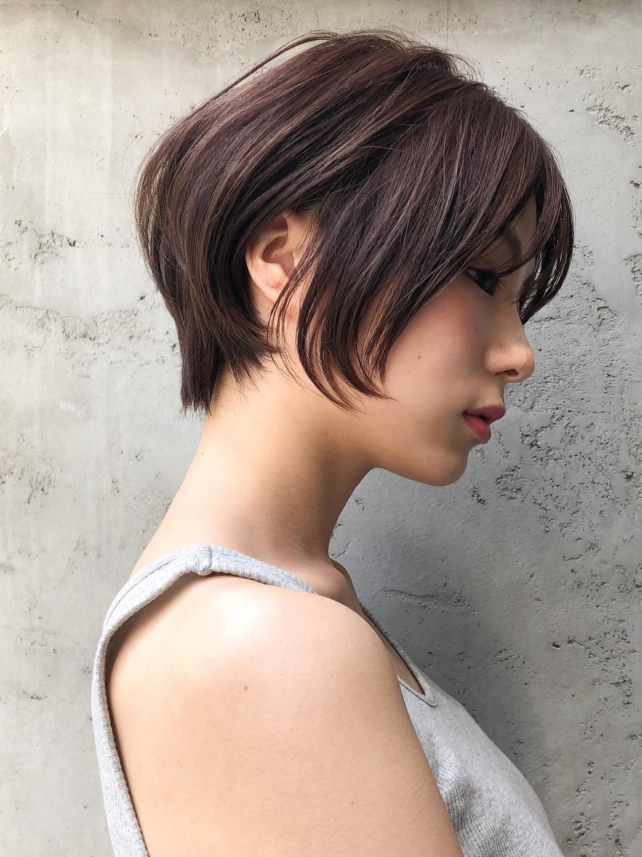 前髪あり ショート ハンサムショート ショートヘア ヘアスタイルや髪型の写真・画像