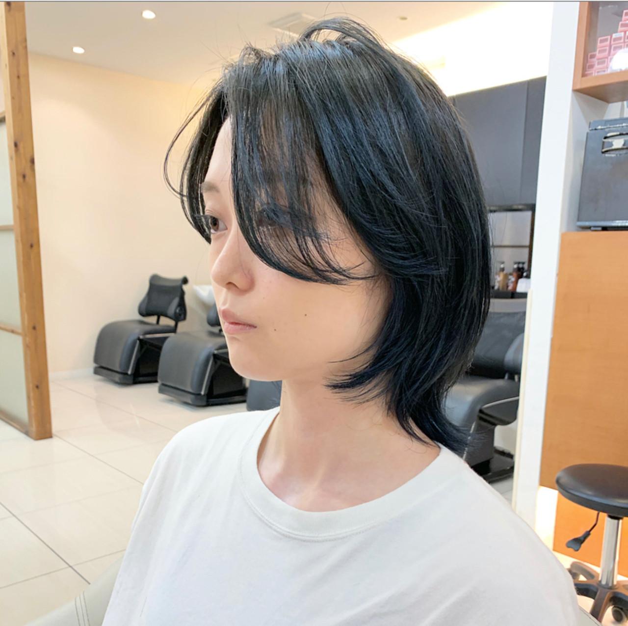 ショート ナチュラル ウルフ女子 ウルフカット ヘアスタイルや髪型の写真・画像